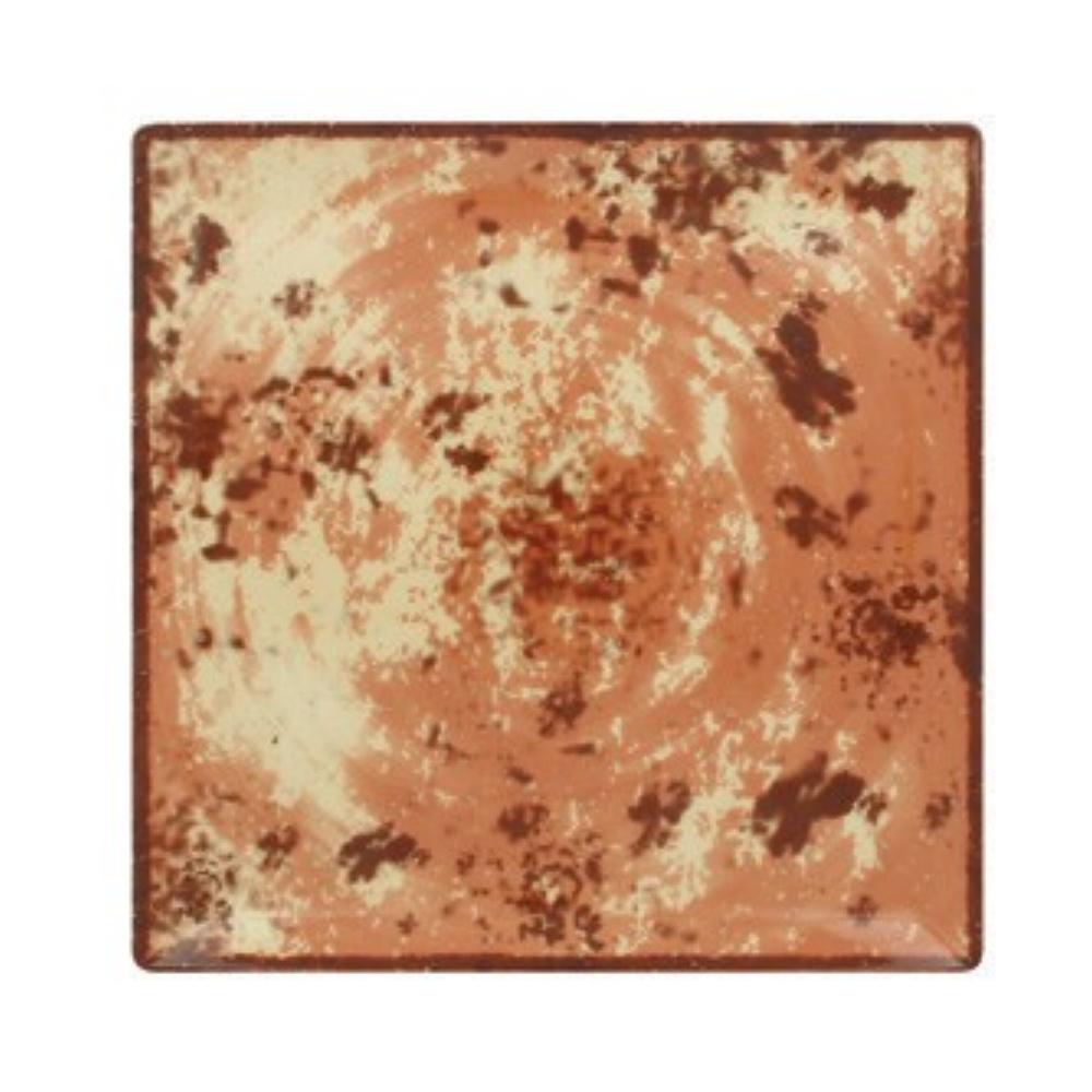 RAK Peppery talíř čtvercový 30x30 cm, hnědý