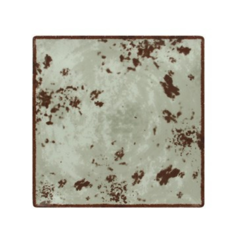 RAK Peppery talíř  čtvercový 30x30 cm, šedý