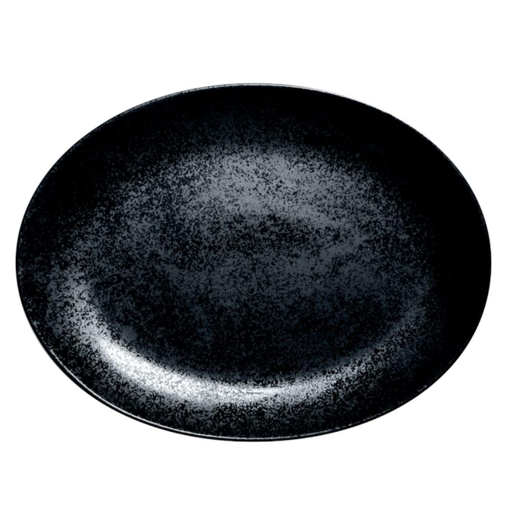 Karbon talíř oválný 32 x 23 cm