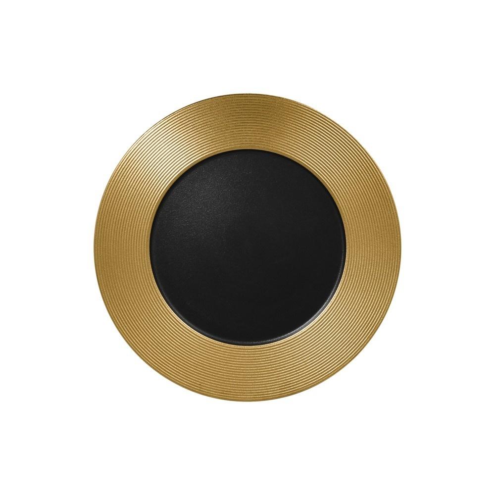 Metalfusion talíř mělký zdobený pr. 33 cm, černo-zlatý