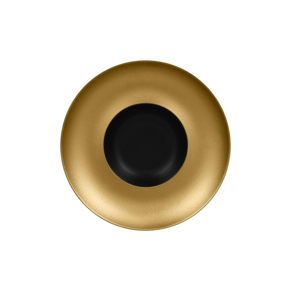 Metalfusion talíř hluboký Gourmet pr. 29 cm, černo-zlatý