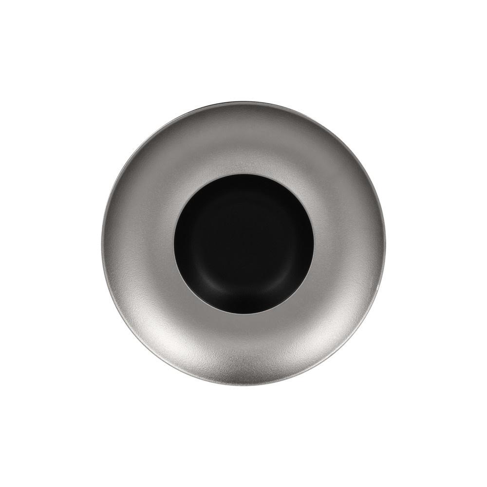 Metalfusion talíř hluboký Gourmet pr. 29 cm, černo-stříbrný