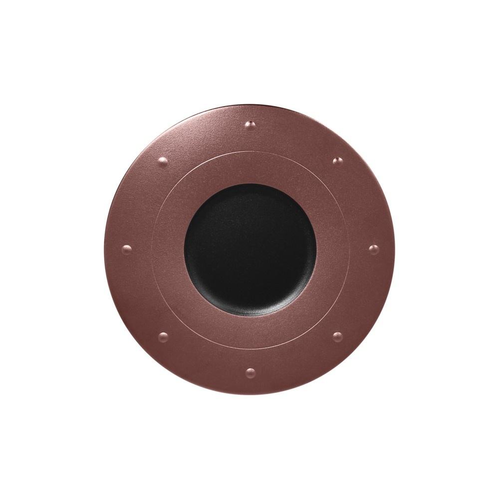 Metalfusion talíř kulatý pr. 31 cm, černo-bronzový