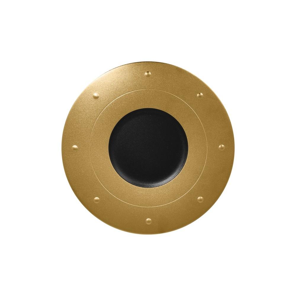 Metalfusion talíř kulatý pr. 31 cm, černo-zlatý