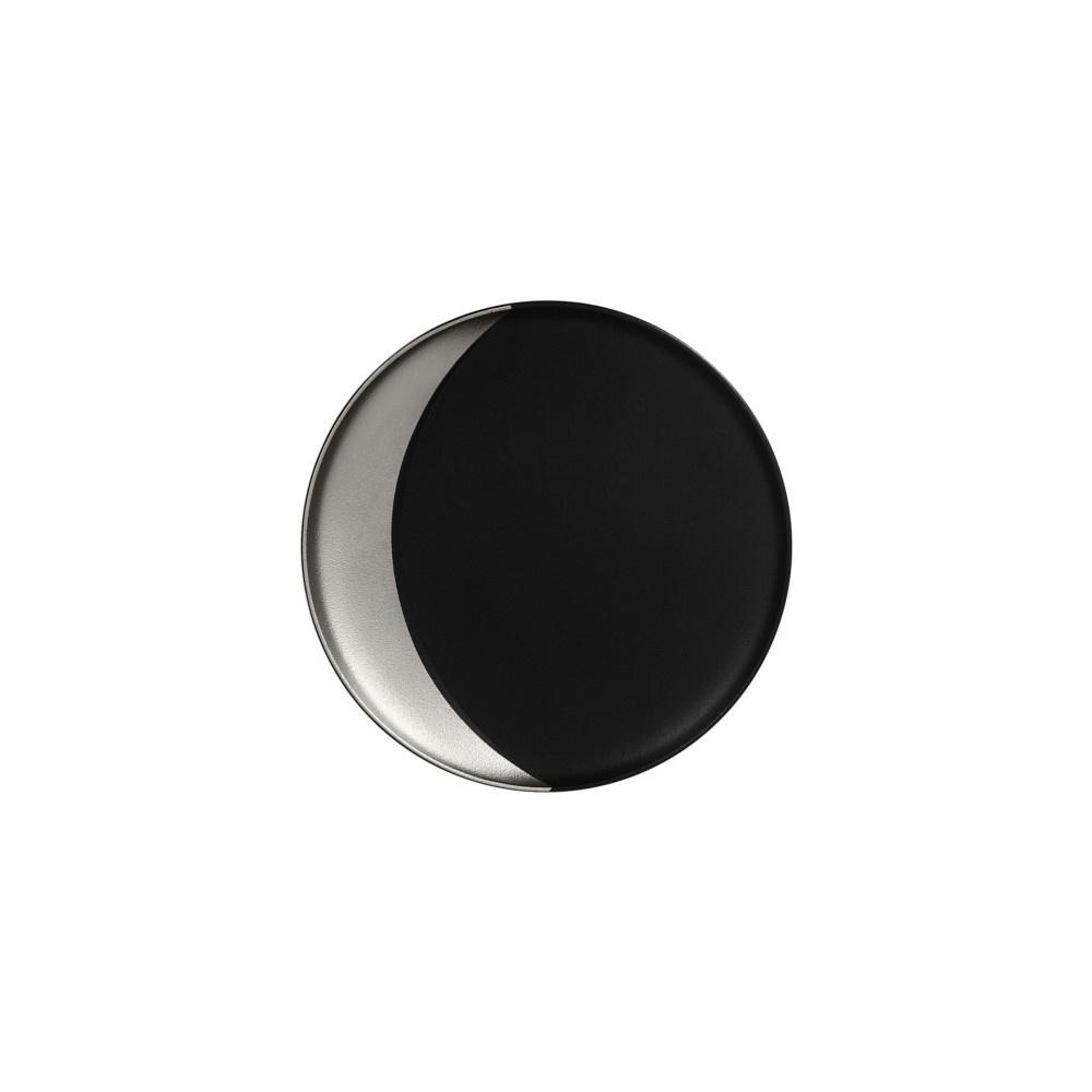Metalfusion talíř hluboký pr. 24 cm, černo-stříbrný