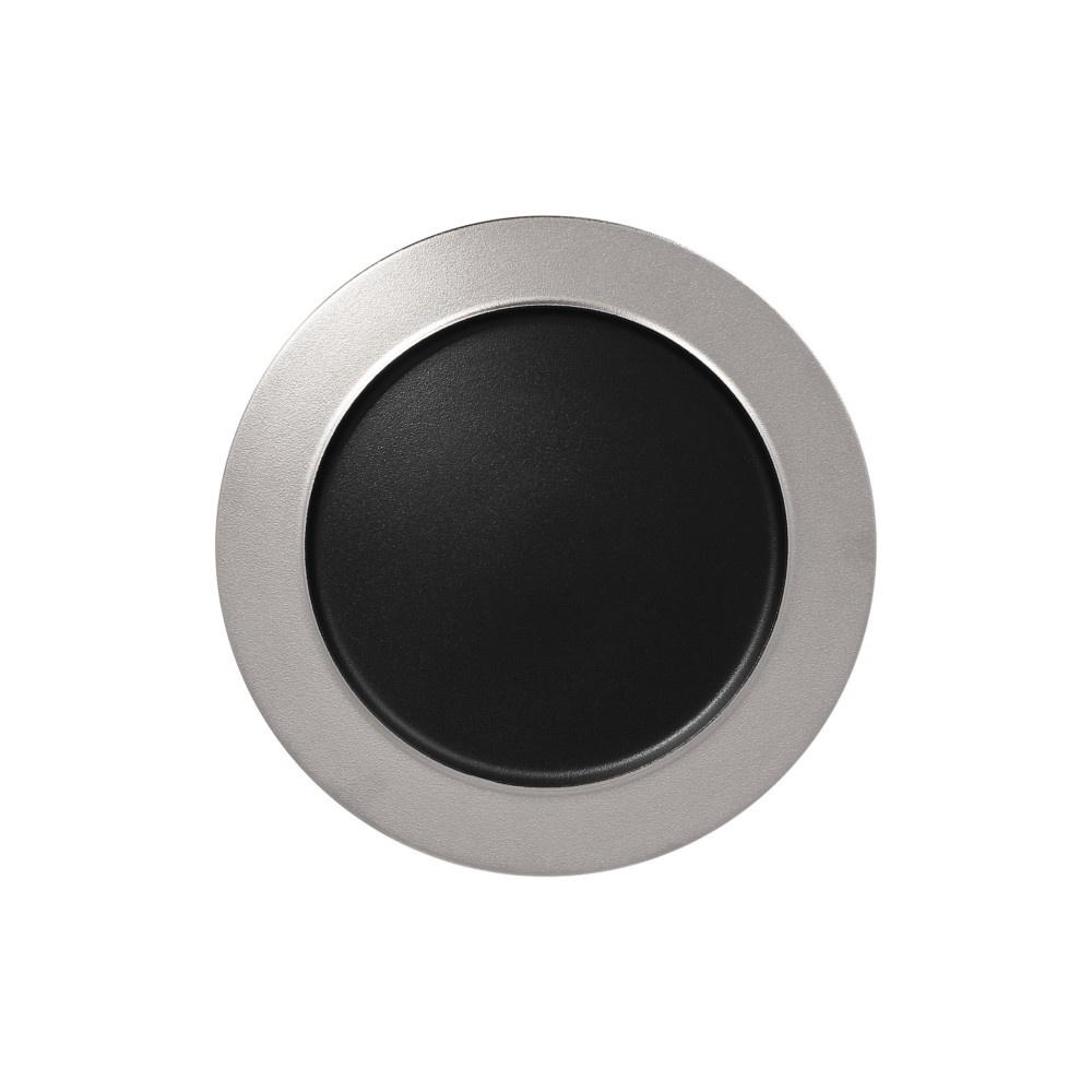 Talíř mělký Metalfusion 32 cm černo-stříbrný