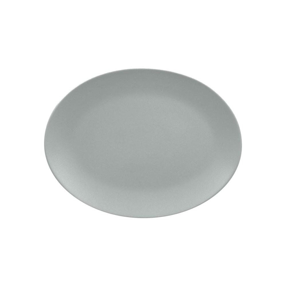 Talíř oválný 36 x 27 cm - šedá