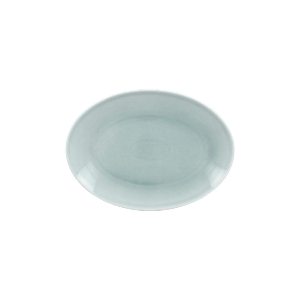VINTAGE talíř oválný 26x19 cm, modrý