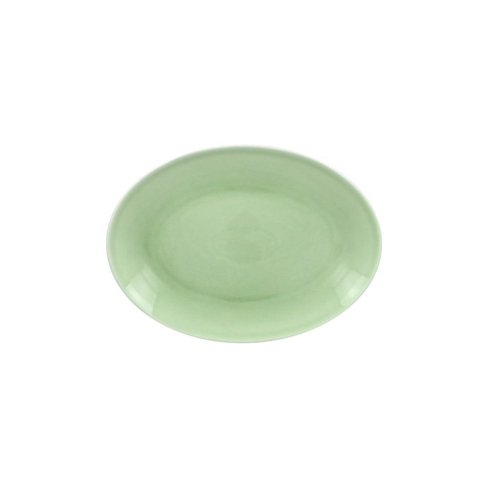 VINTAGE talíř oválný 26x19 cm, zelený