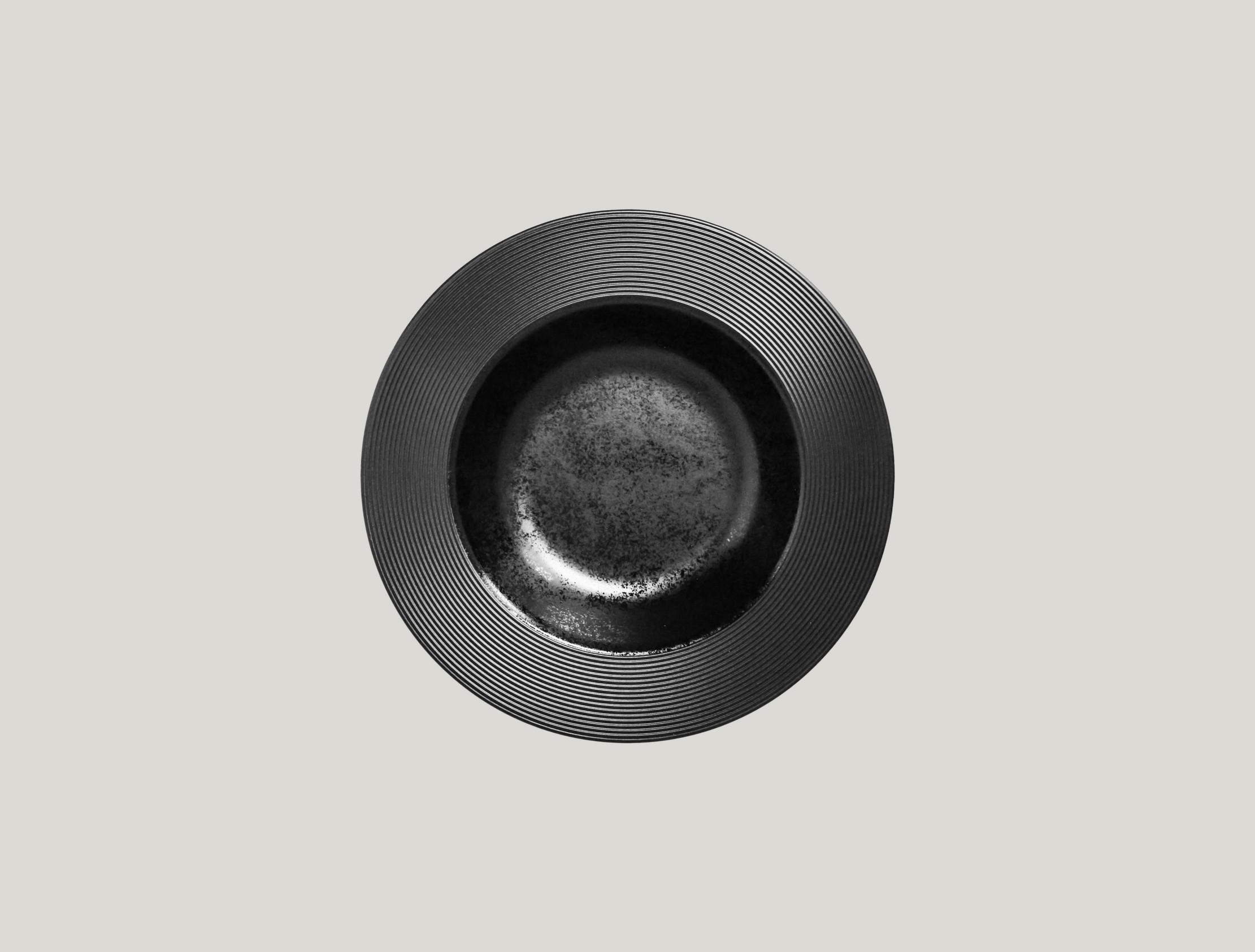 Edge talíř hluboký 23 cm - černá
