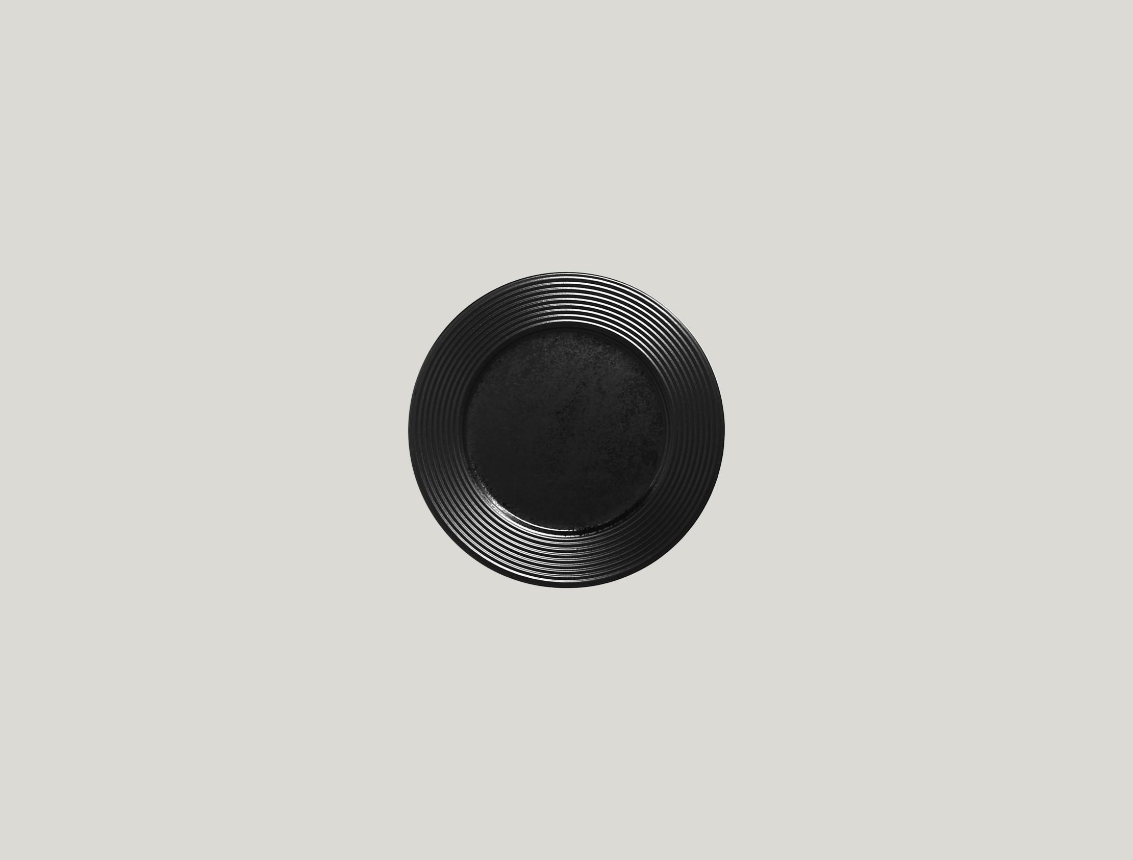 Edge talíř mělký dezertní 16 cm - černá