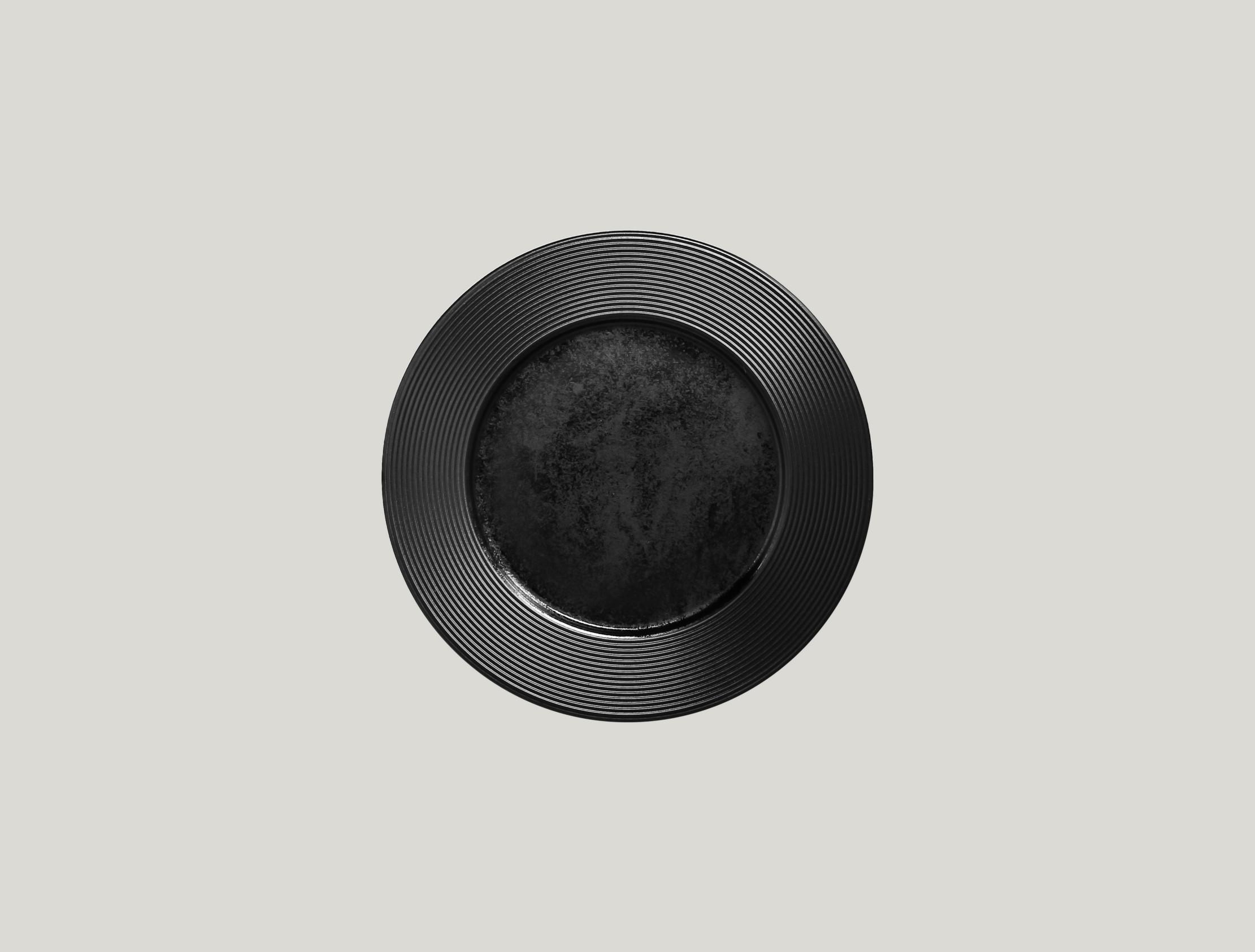 Edge talíř mělký 22 cm - černá