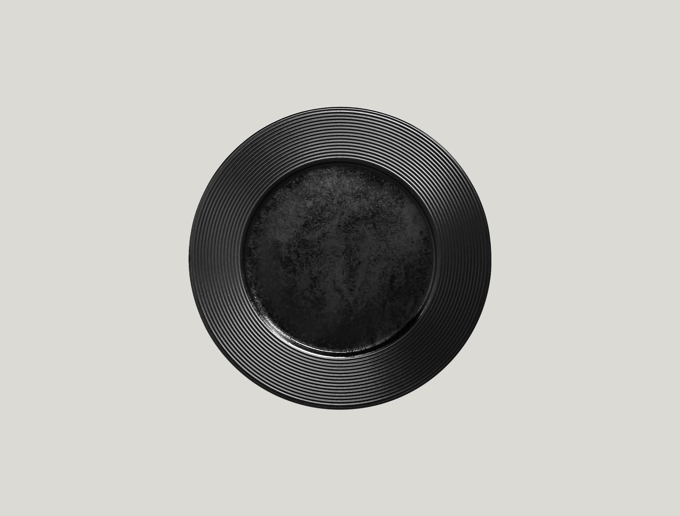 Edge talíř mělký 25 cm - černá