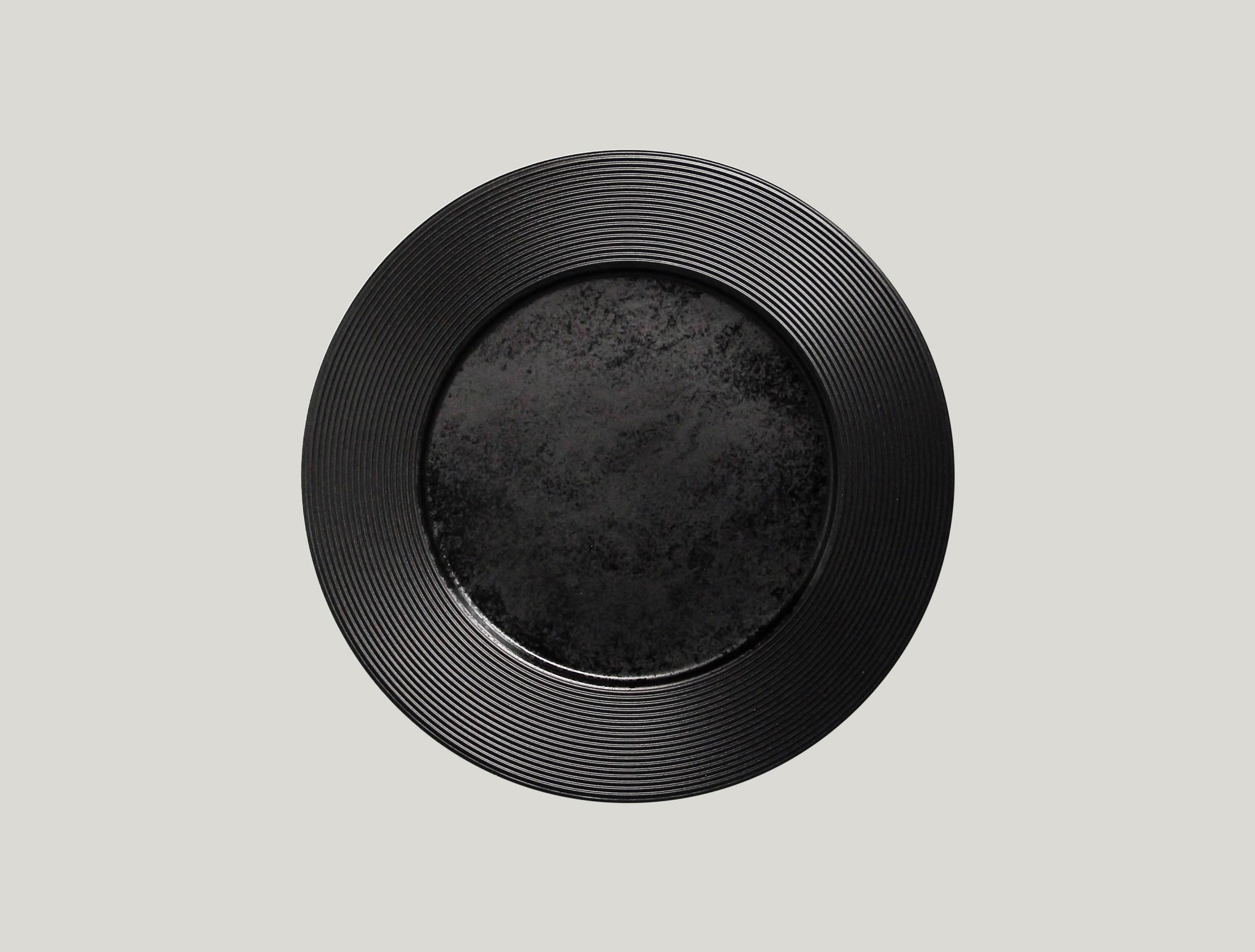 Edge talíř mělký 29 cm - černá