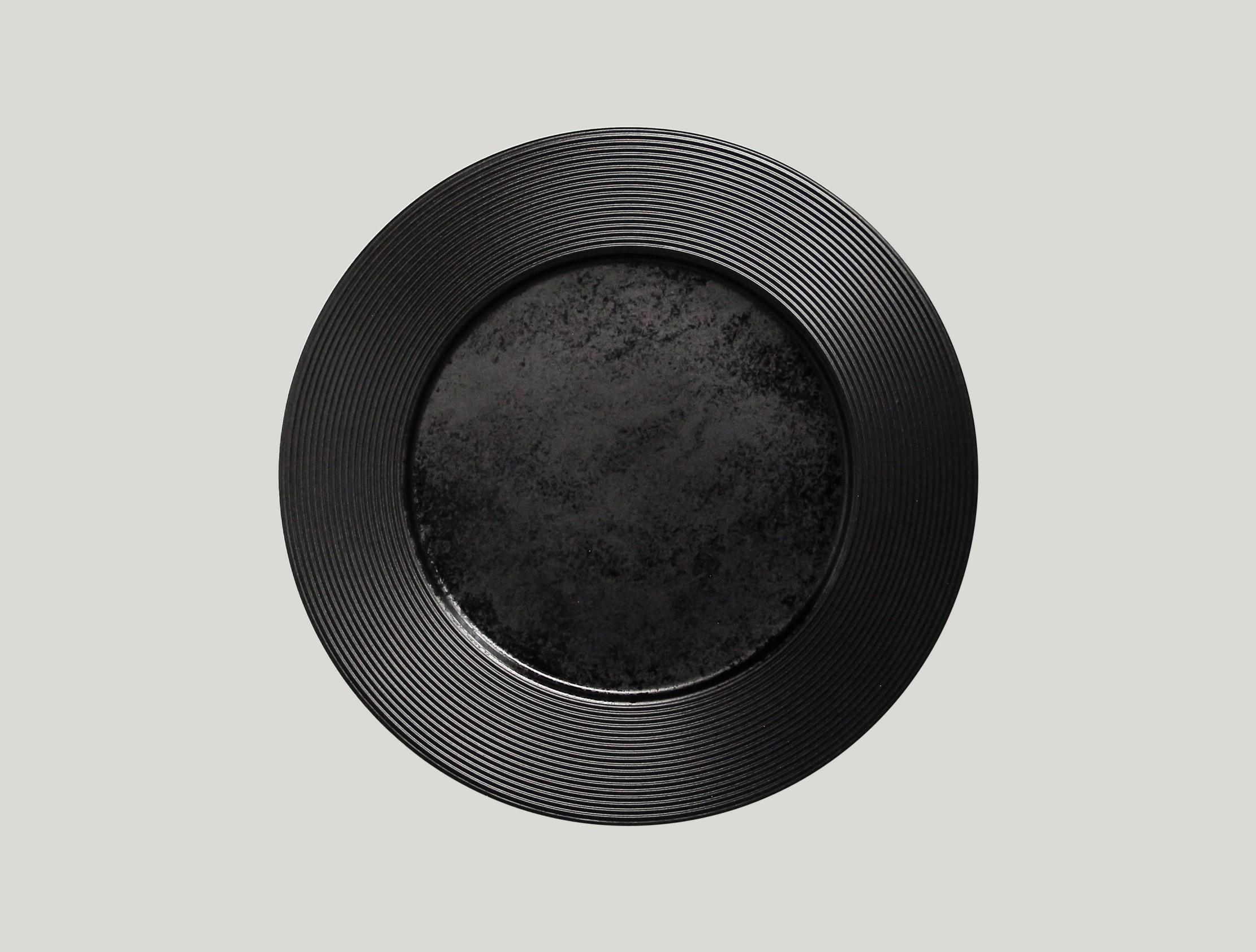 Edge talíř mělký 31 cm - černá