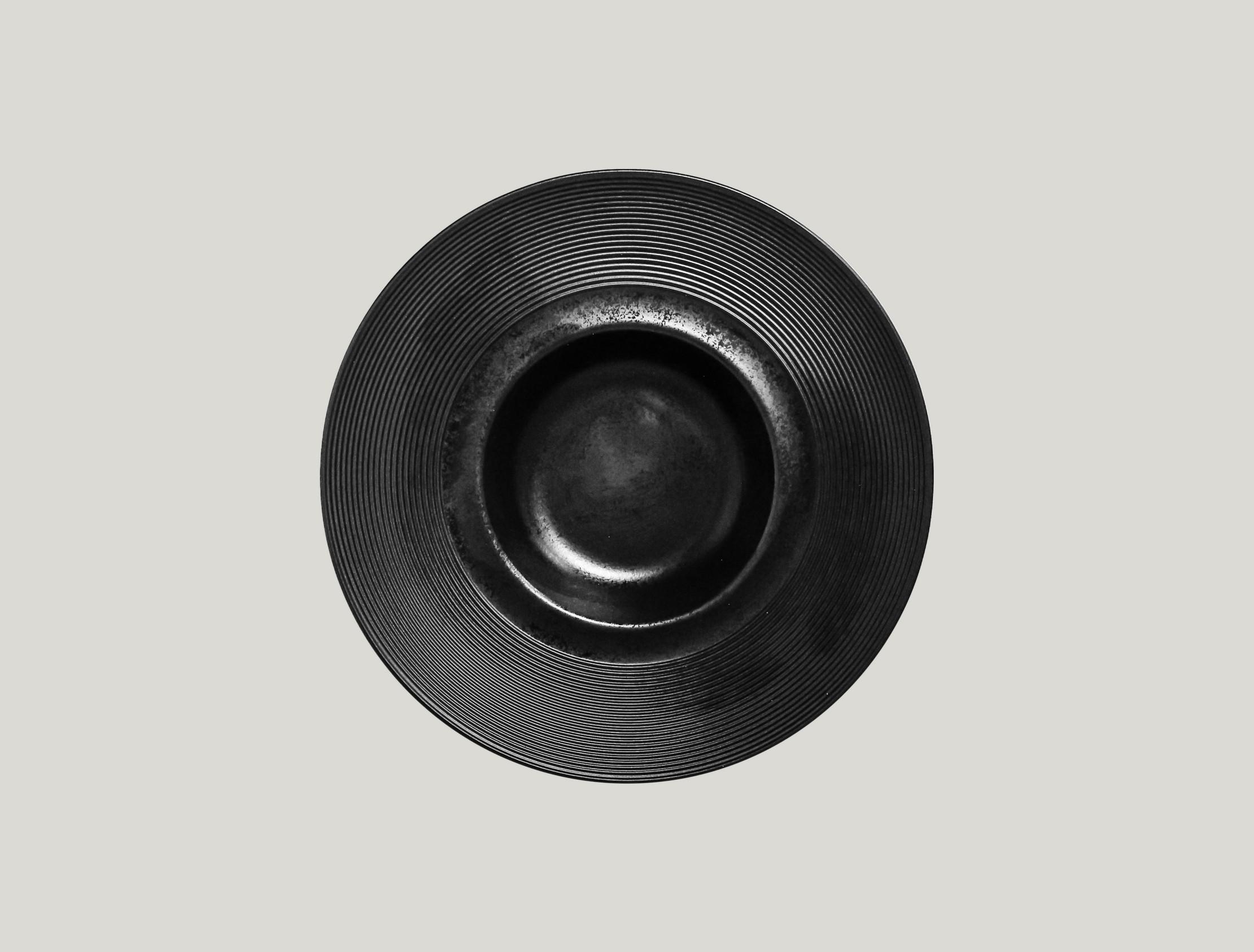 Edge talíř hluboký Gourmet 26 cm - černá