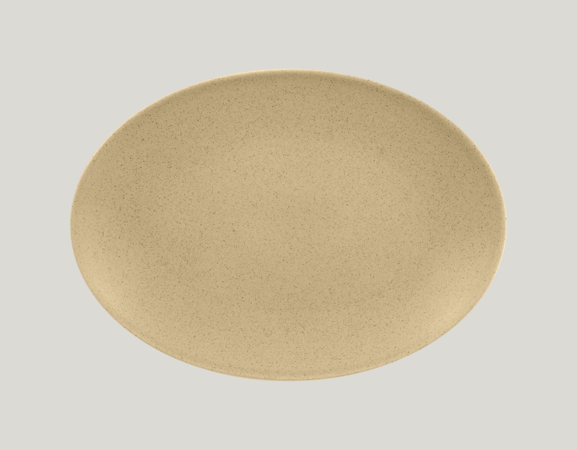 Genesis talíř oválný - mandlový 32 x 23 cm