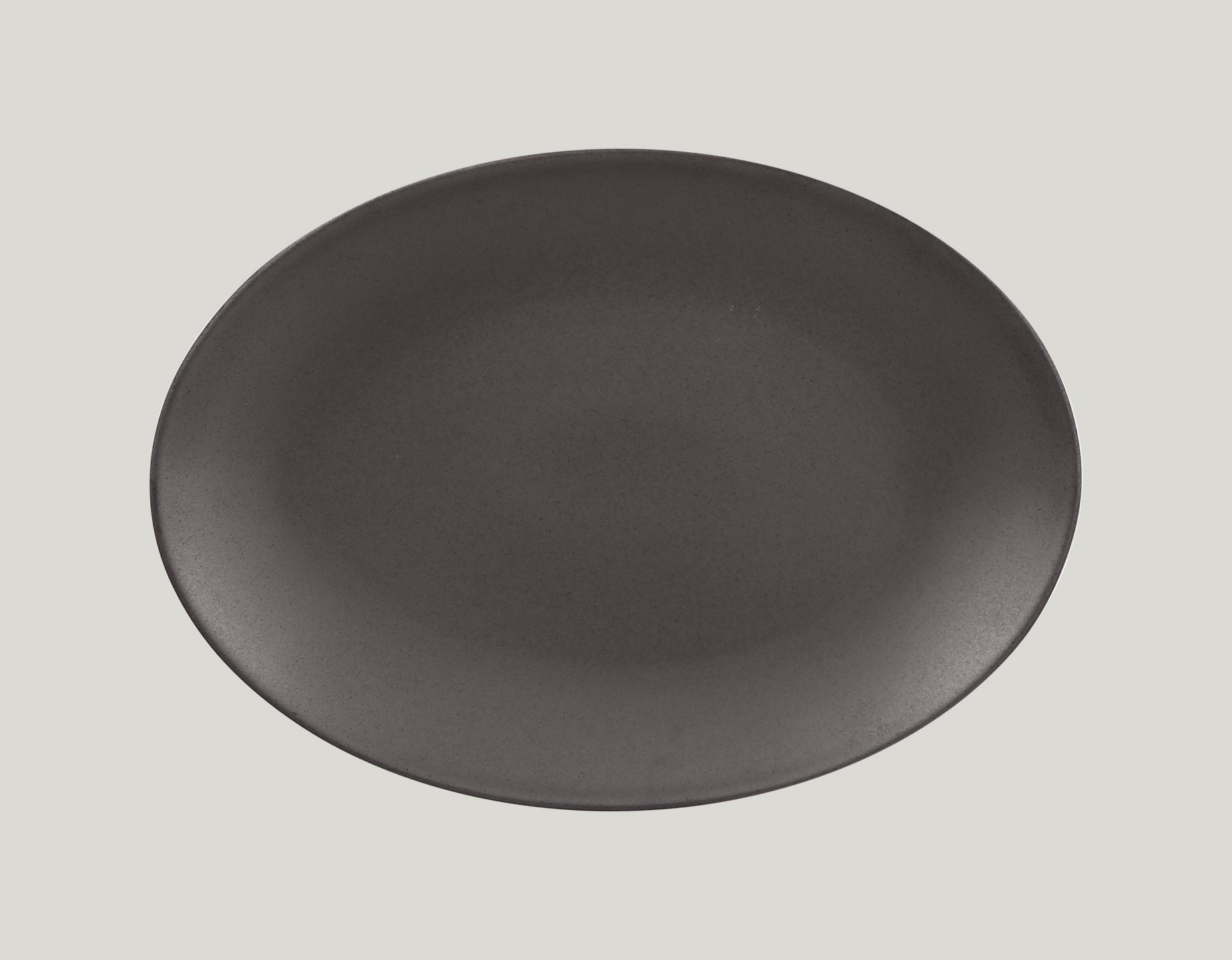 Genesis talíř oválný- kakao 32 x 23 cm