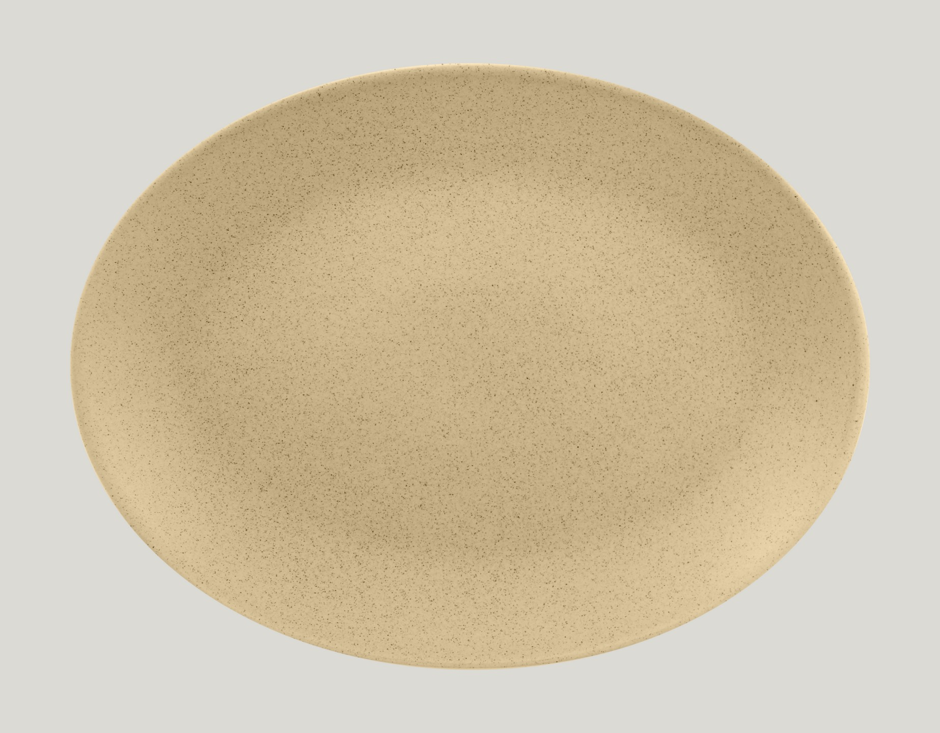 Genesis talíř oválný - mandlový 36 x 27 cm