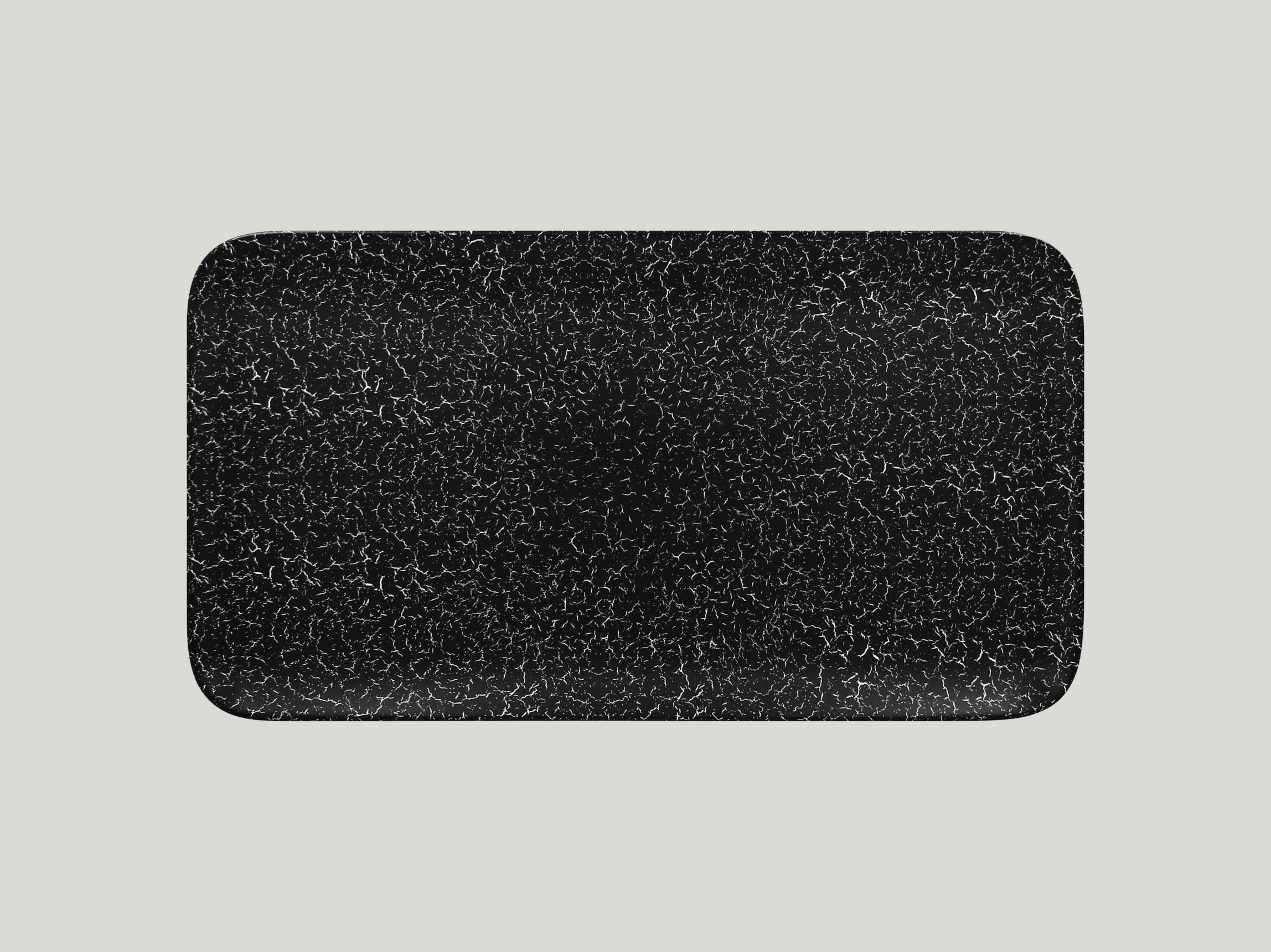 Talíř obdélníkový 38 x 21 cm - černá