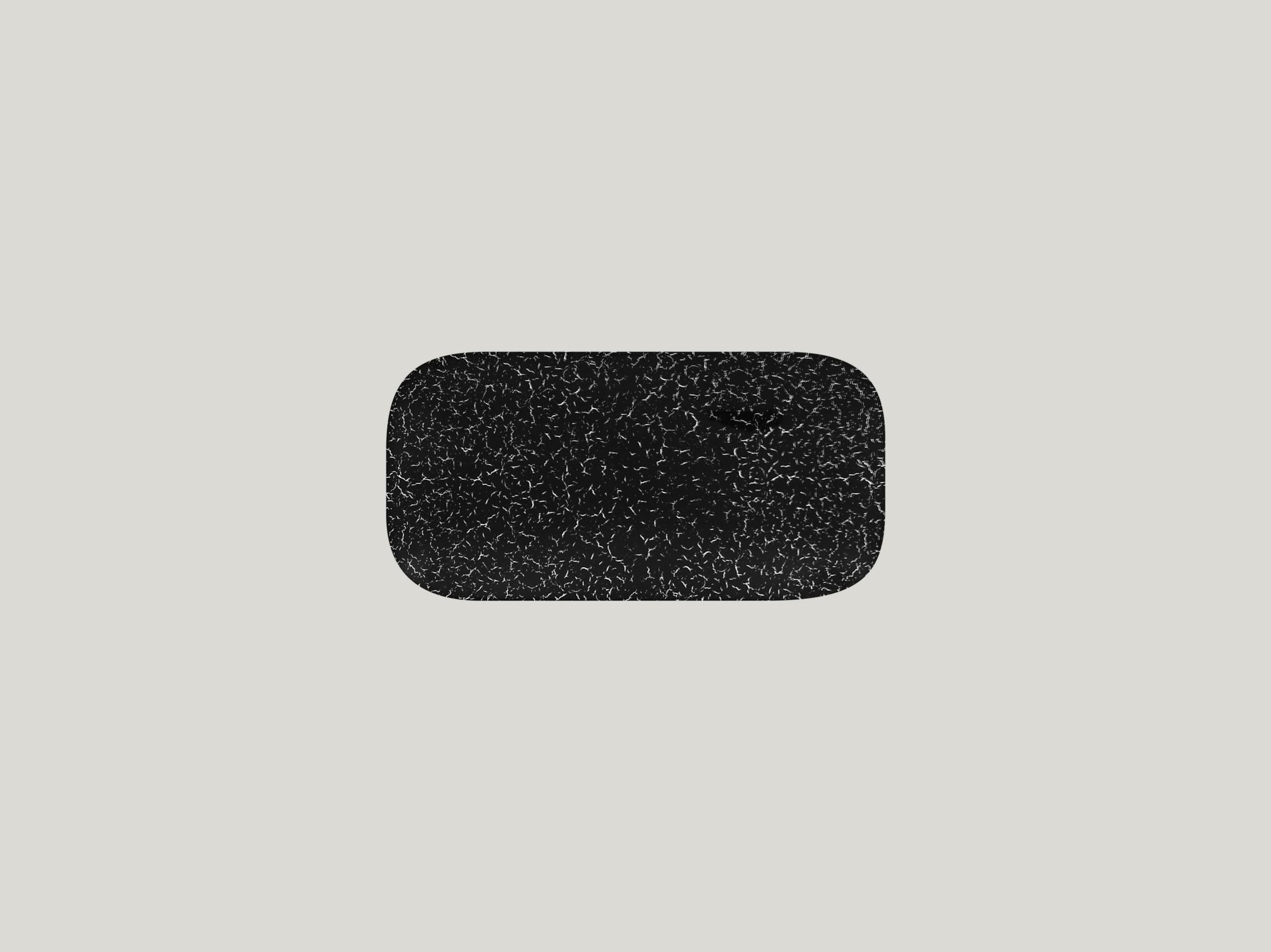 Talíř obdélníkový 22 x 11 cm - černá