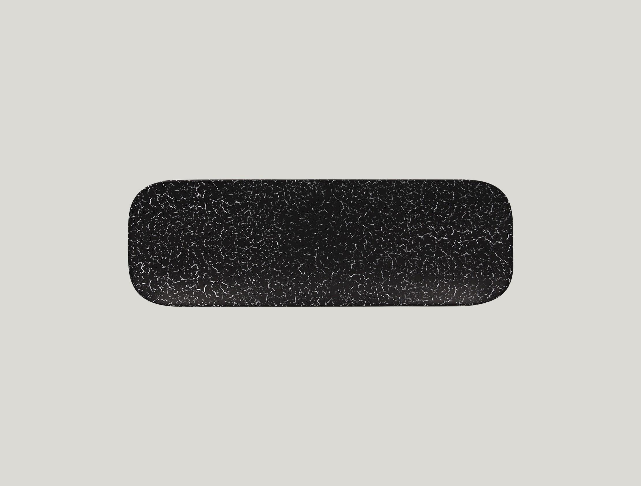 Talíř obdélníkový 33 x 11 cm - černá