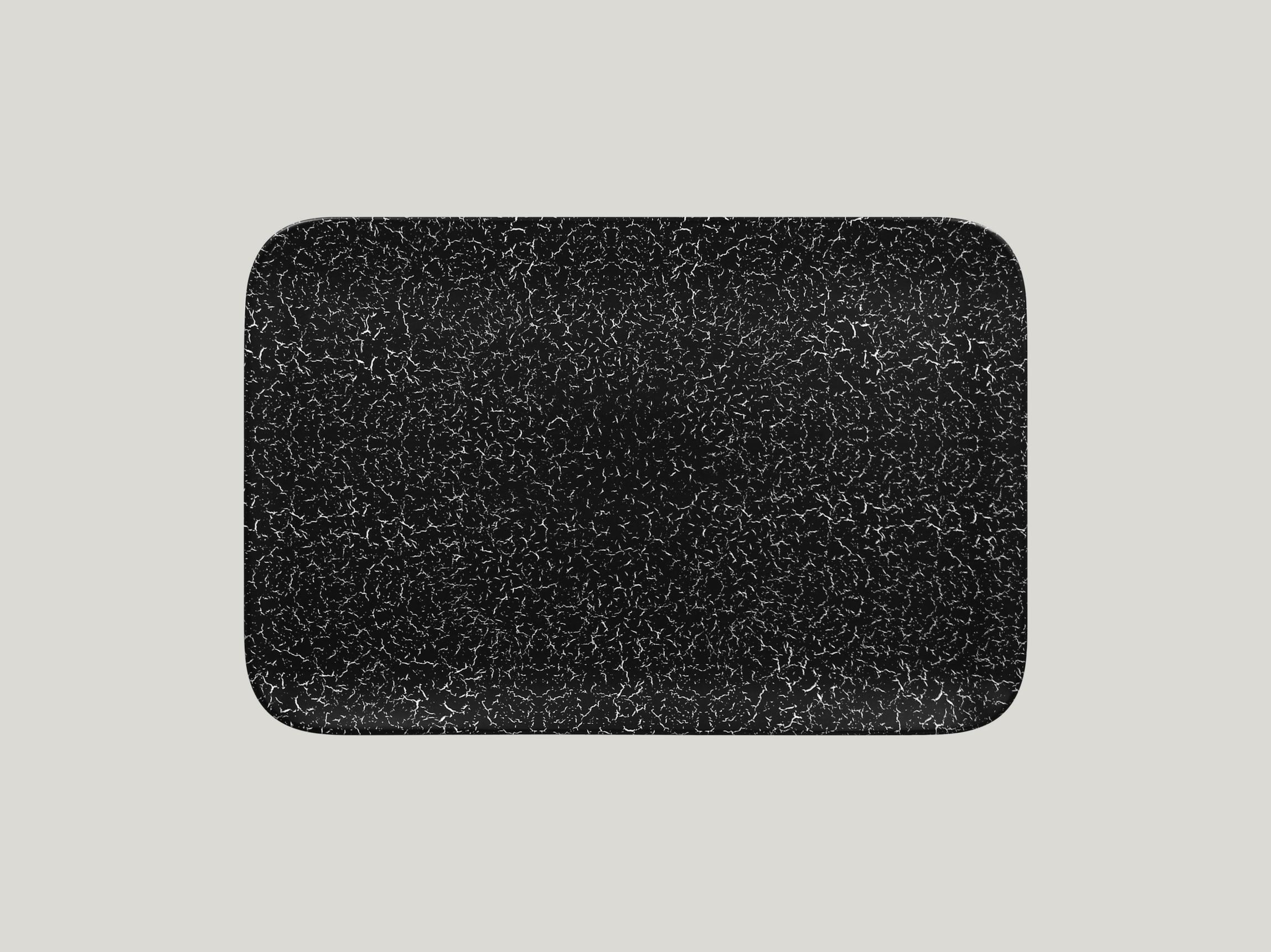 Talíř obdélníkový 33 x 22 cm - černá