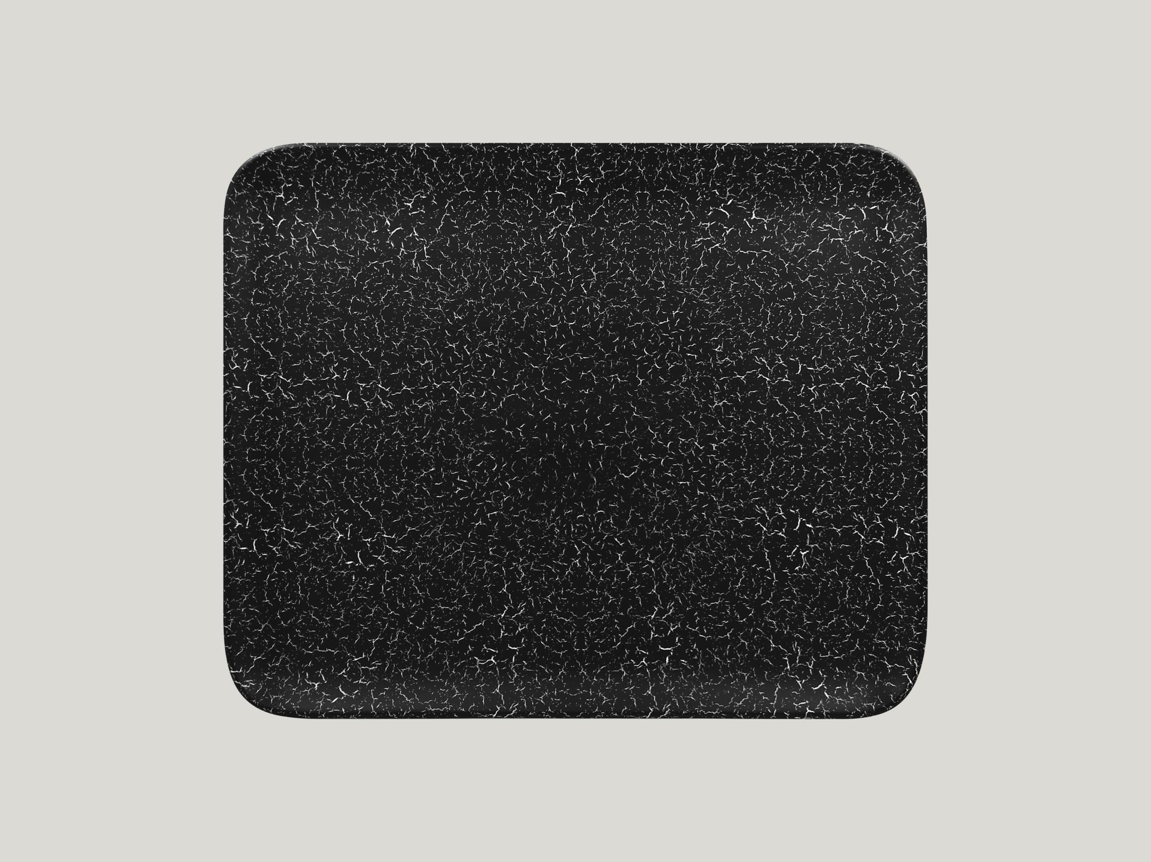 Talíř obdélníkový 33 x 27 cm - černá