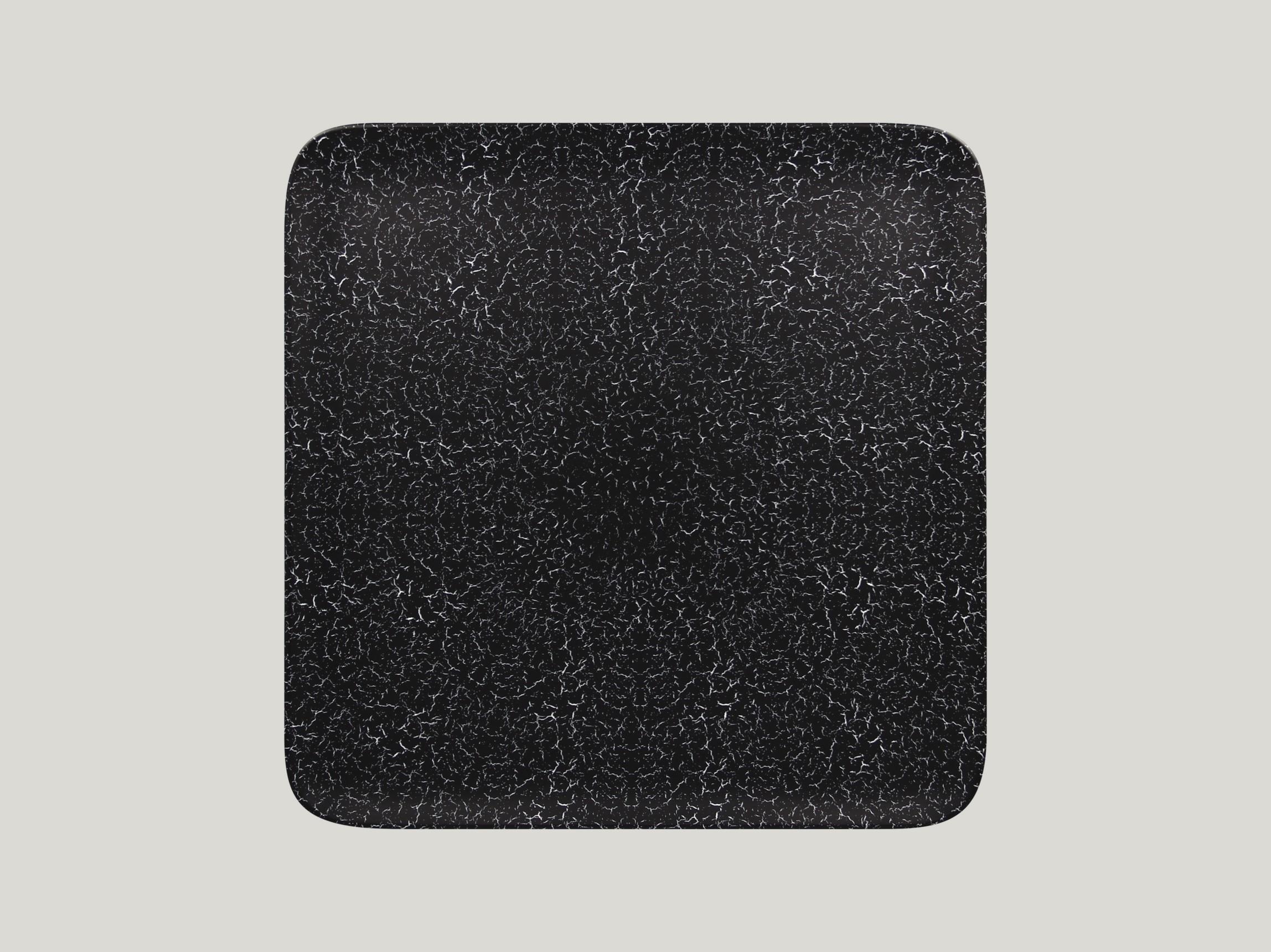 Talíř čtvercový 30 x 30 cm - černá