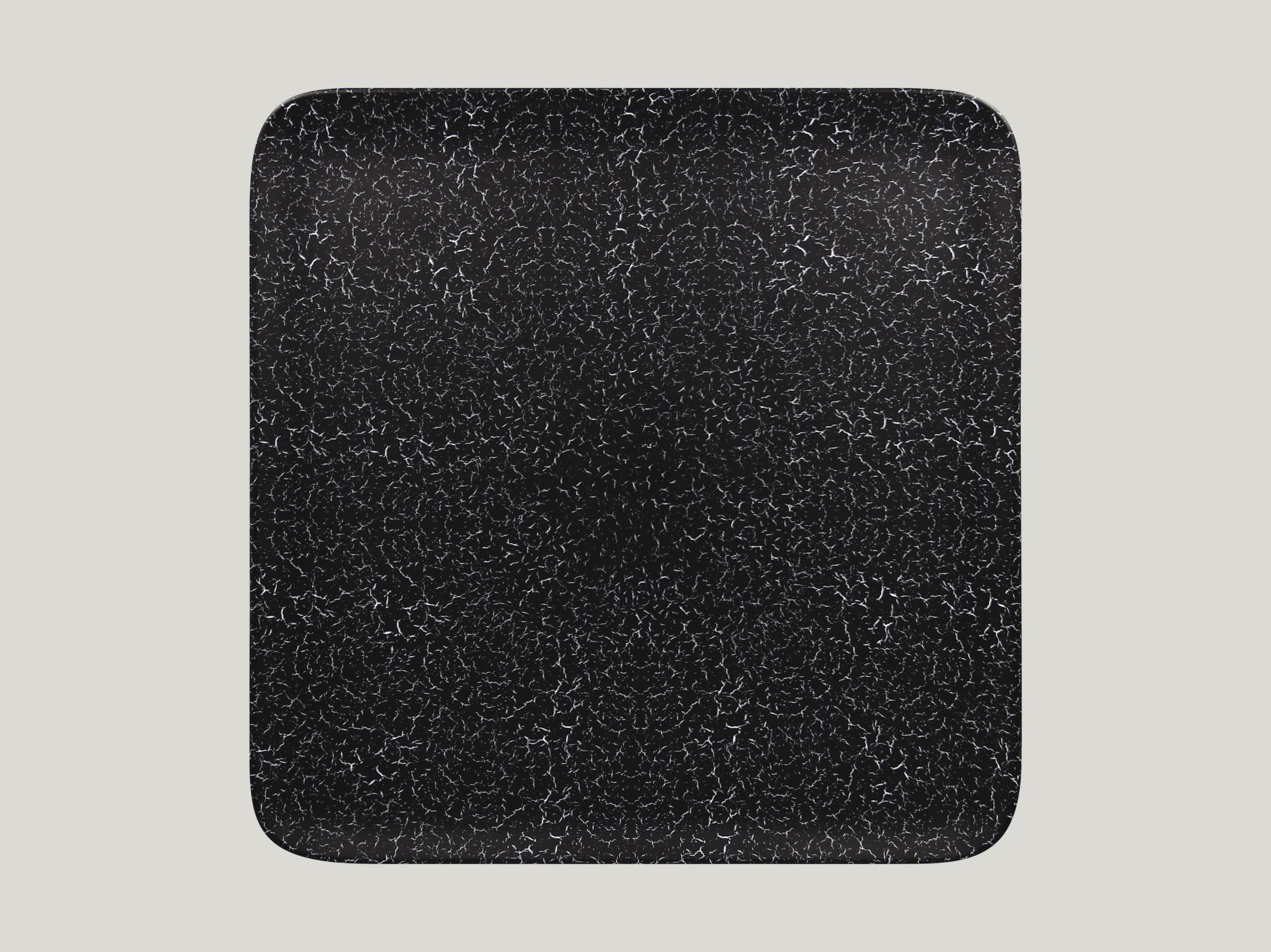 Talíř čtvercový 33 x 33 cm - černá