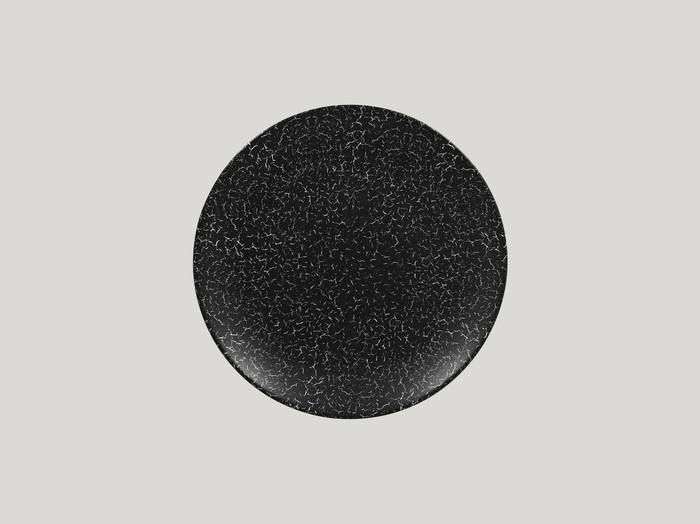 Talíř mělký 24 cm - černá