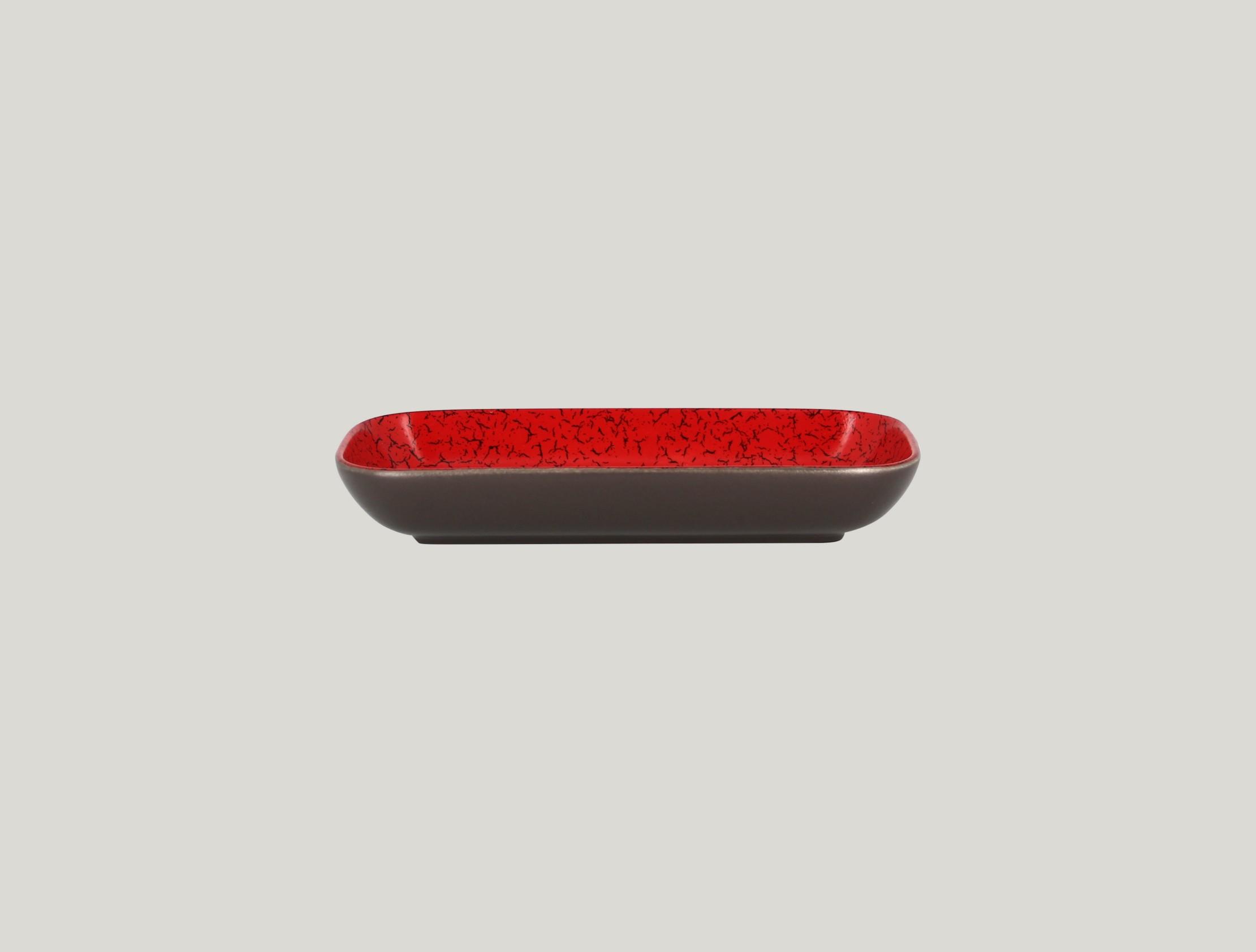 Miska obdélníková 22 x 11 cm - červená