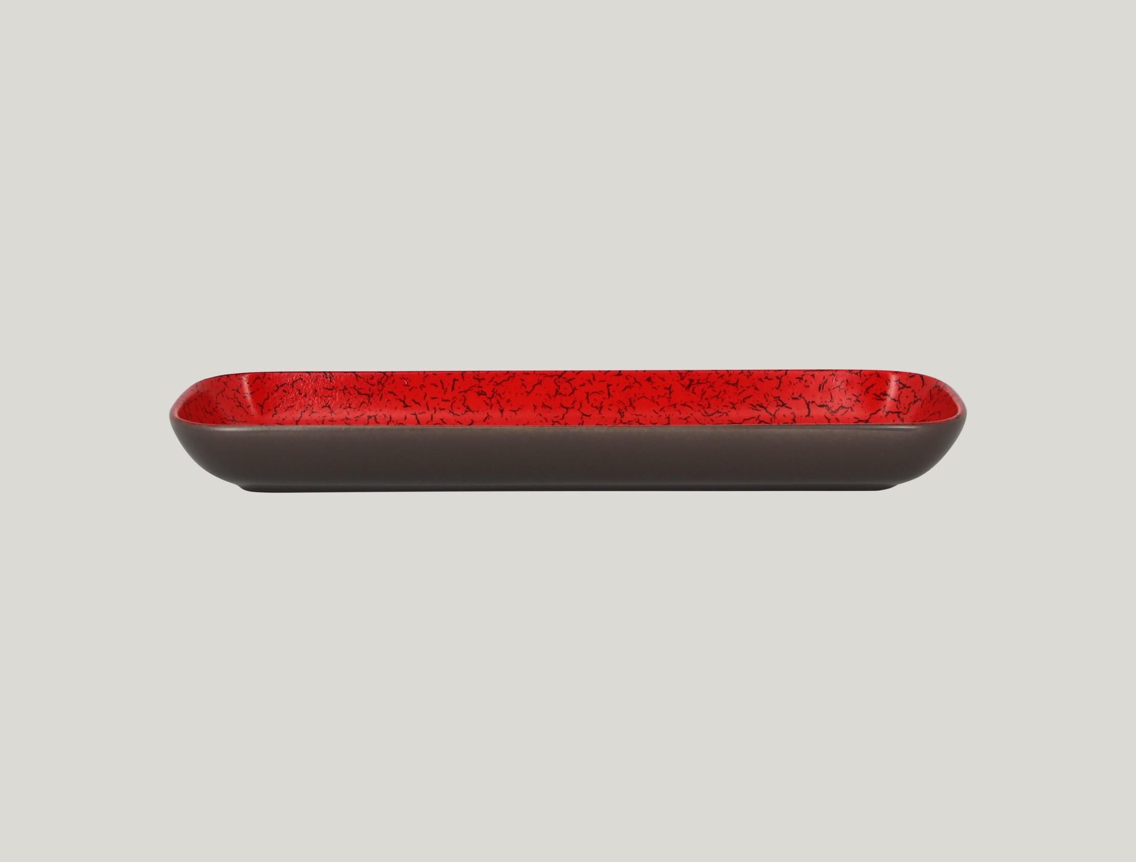 Miska obdélníková 33 x 11 cm - červená