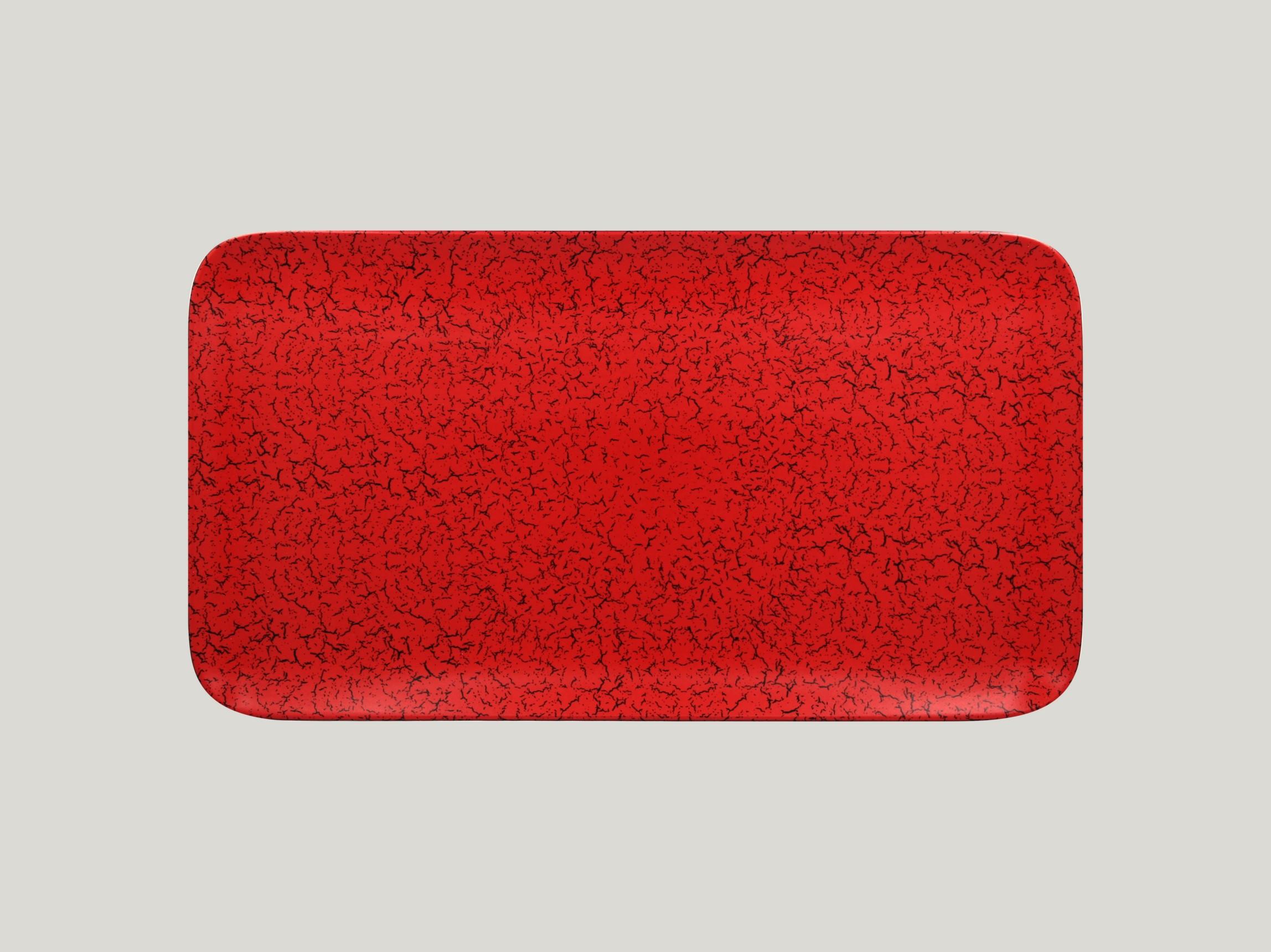 Talíř obdélníkový 38 x 21 cm - červená