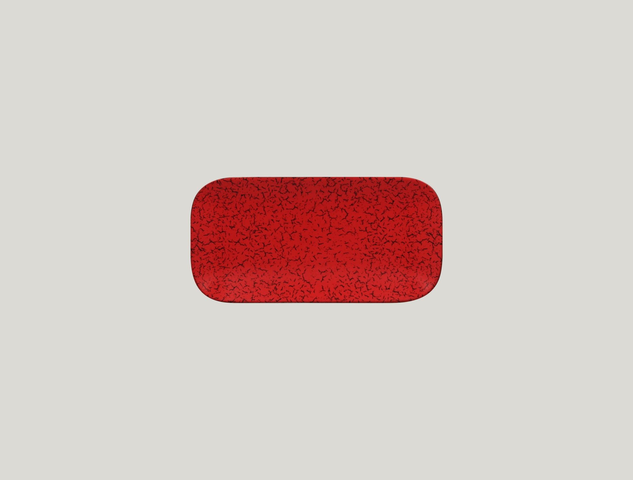 Talíř obdélníkový 22 x 11 cm - červená