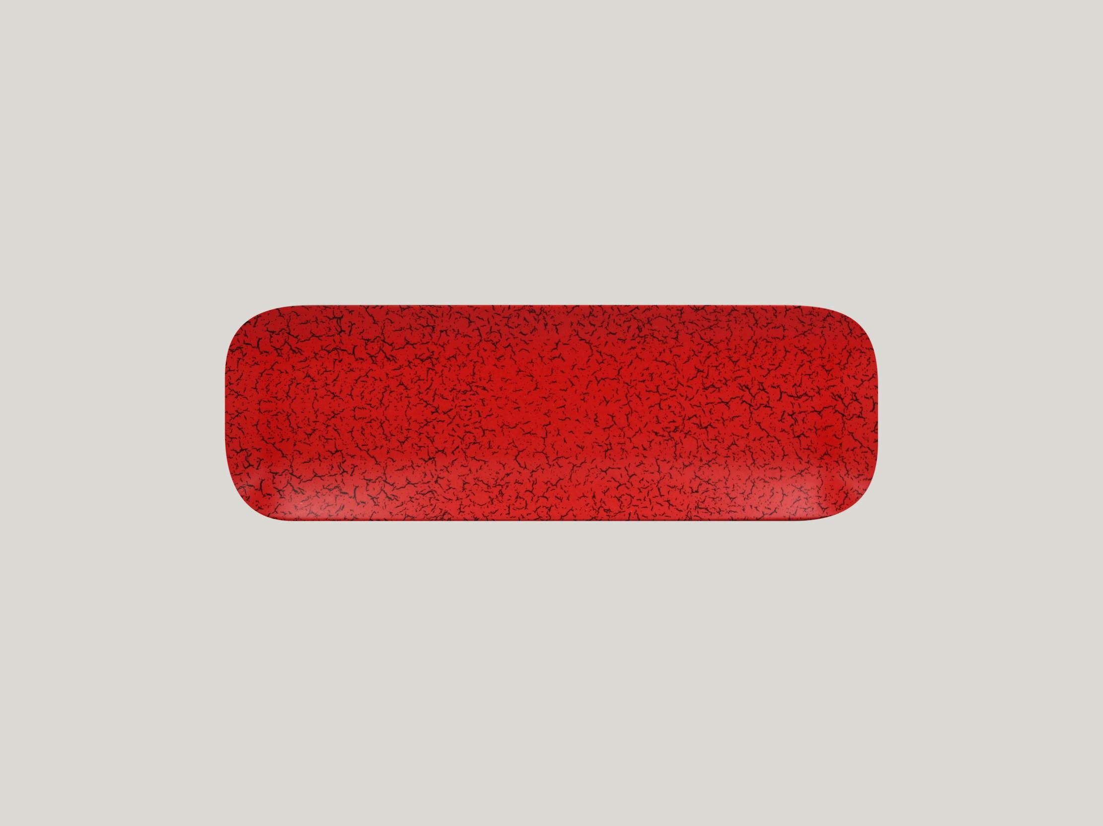Talíř obdélníkový 33 x 11 cm - červená