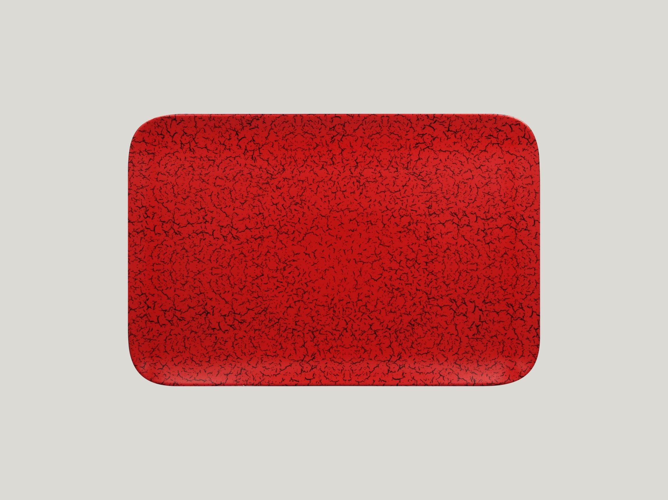 Talíř obdélníkový 33 x 22 cm - červená