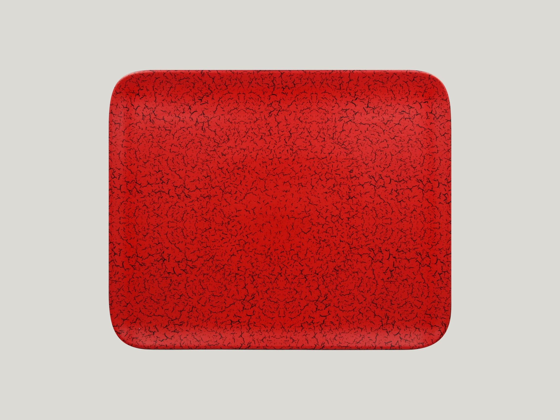 Talíř obdélníkový 33 x 27 cm - červená
