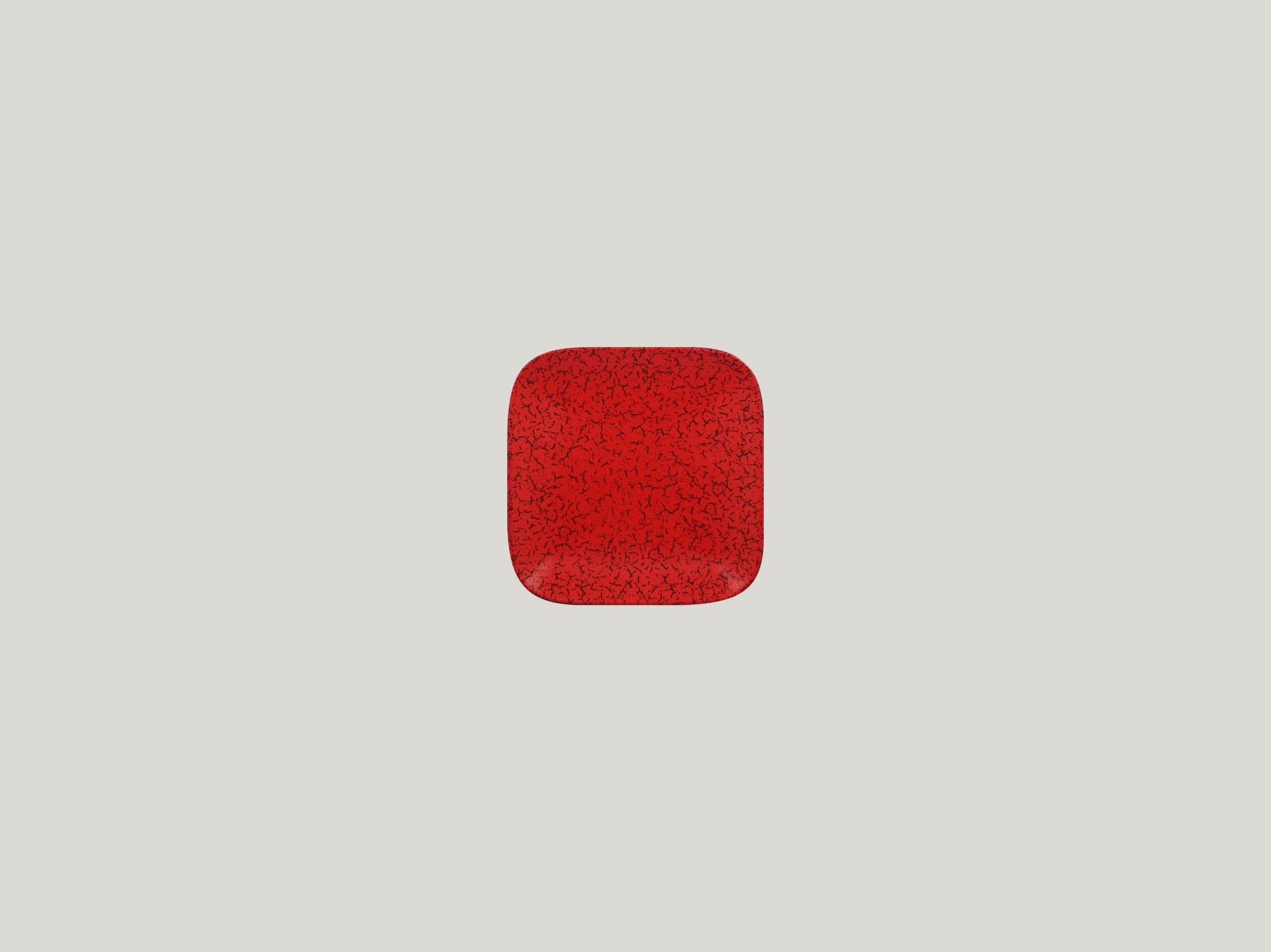 Talíř čtvercový 11 x 11 cm - červená