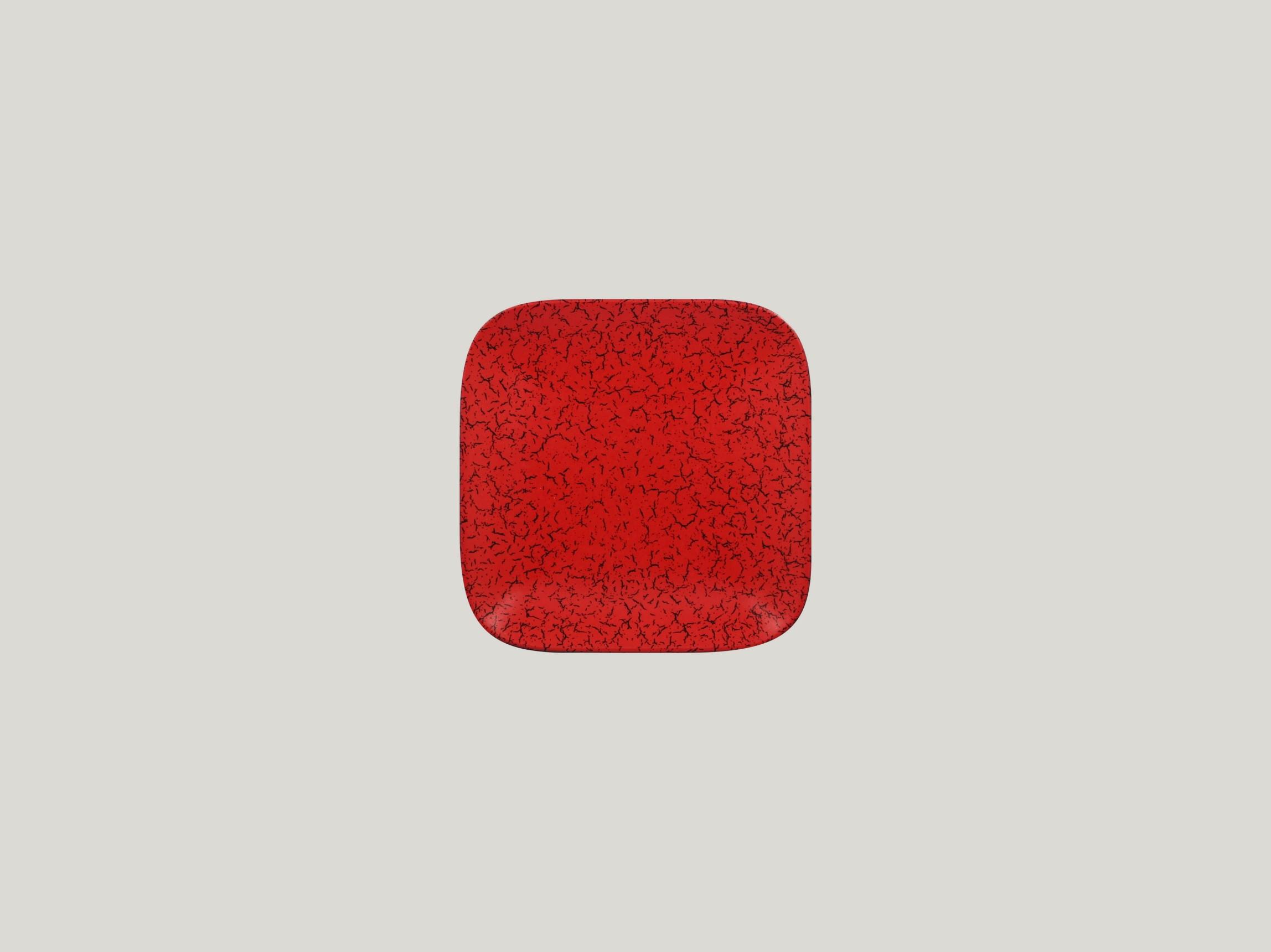 Talíř čtvercový 15 x 15 cm - červená