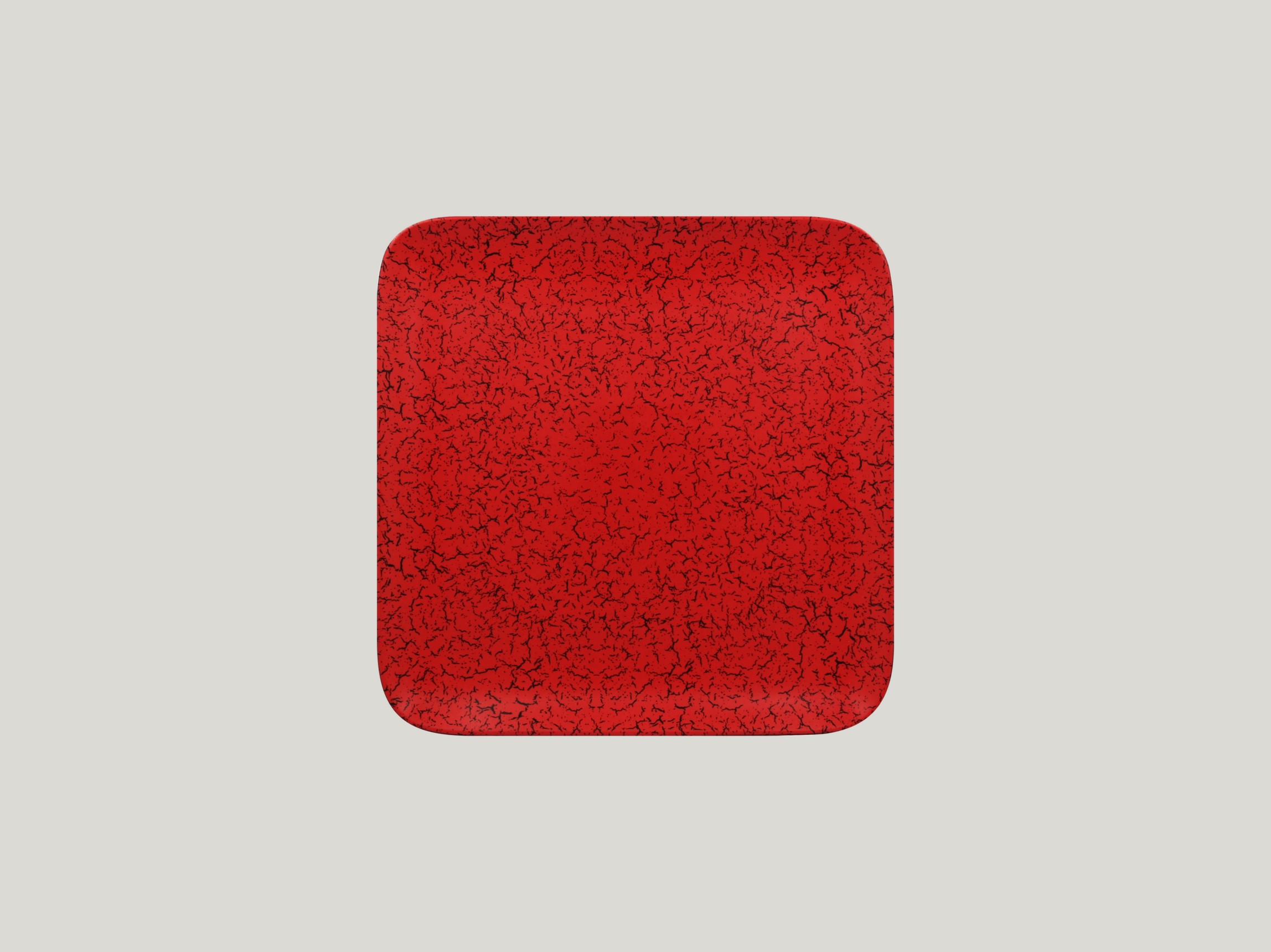 Talíř čtvercový 22 x 22 cm - červená
