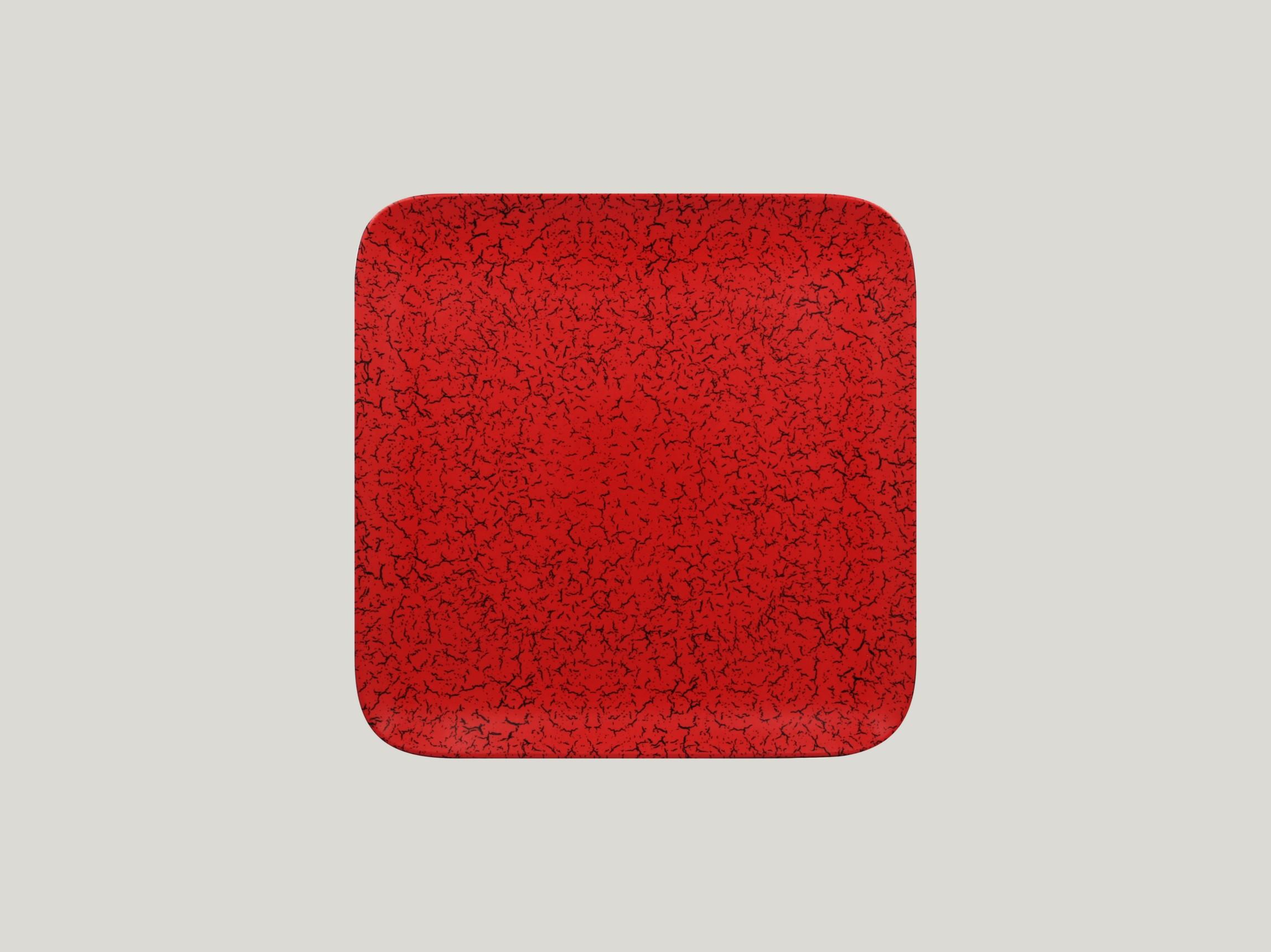 Talíř čtvercový 24 x 24 cm - červená