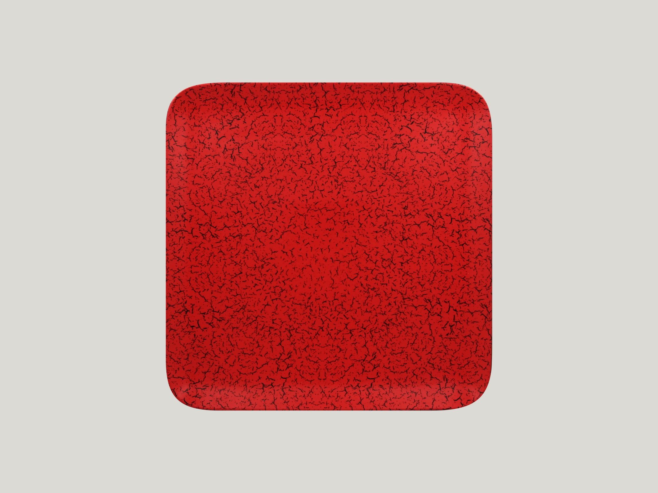 Talíř čtvercový 27 x 27 cm - červená