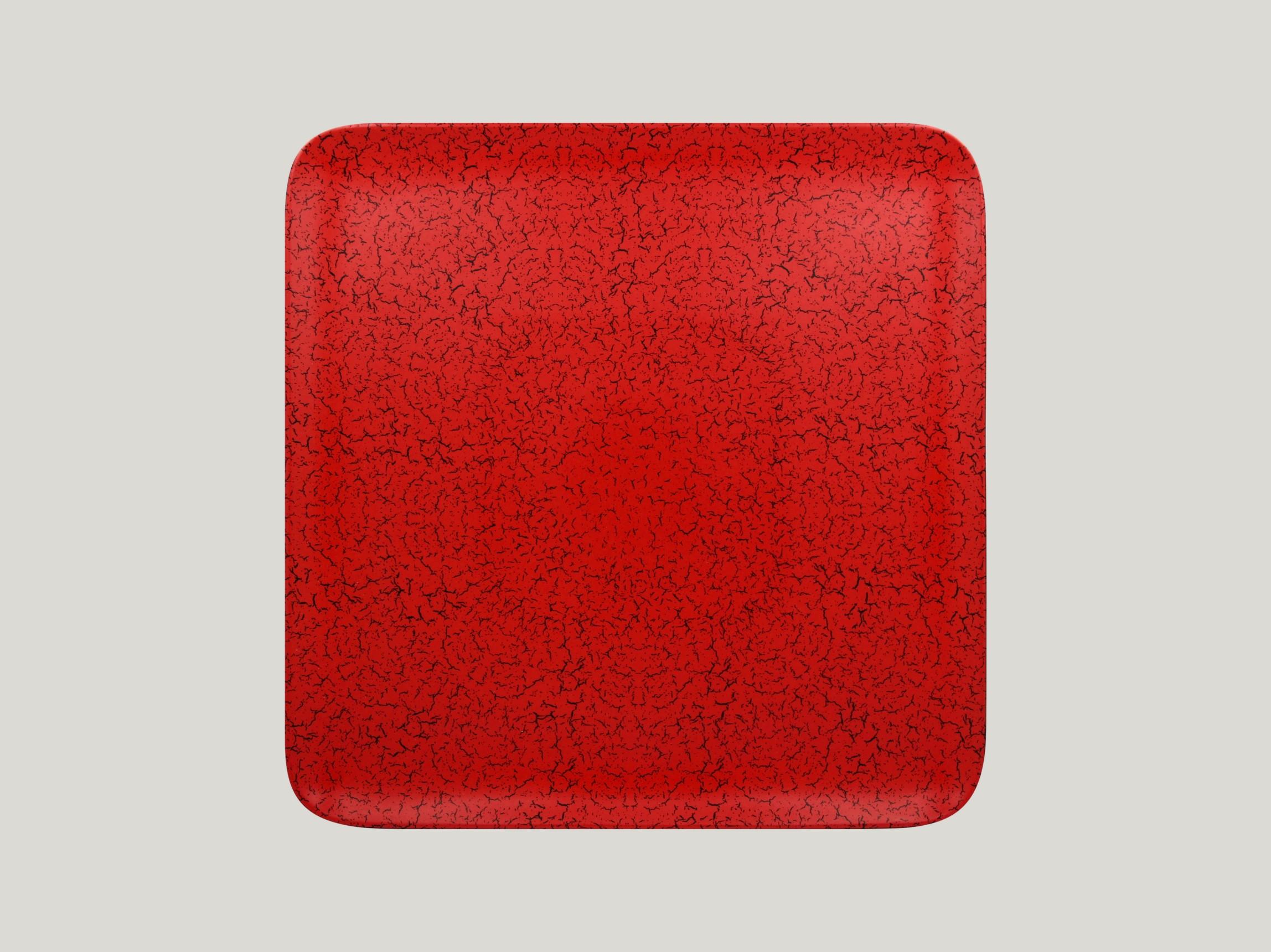 Talíř čtvercový 30 x 30 cm - červená