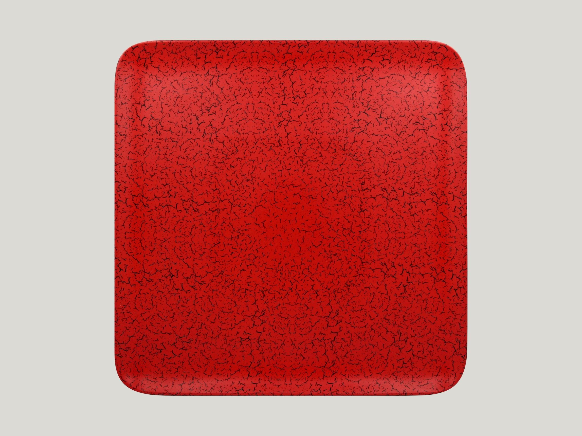 Talíř čtvercový 33 x 33 cm - červená
