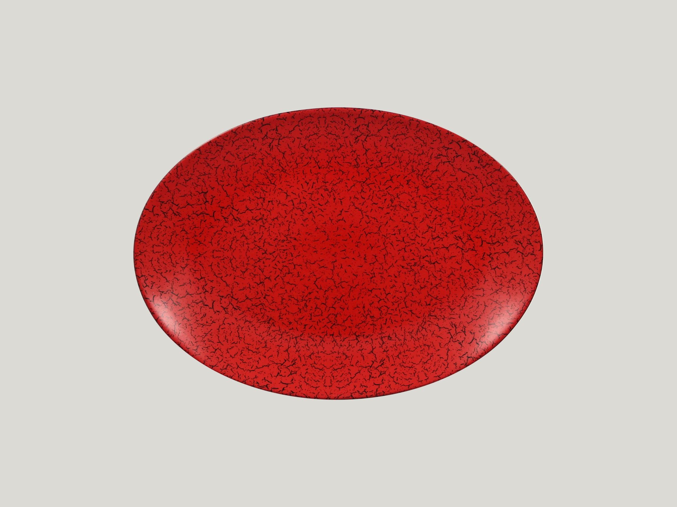 Talíř oválný 32 x 23 cm - červená