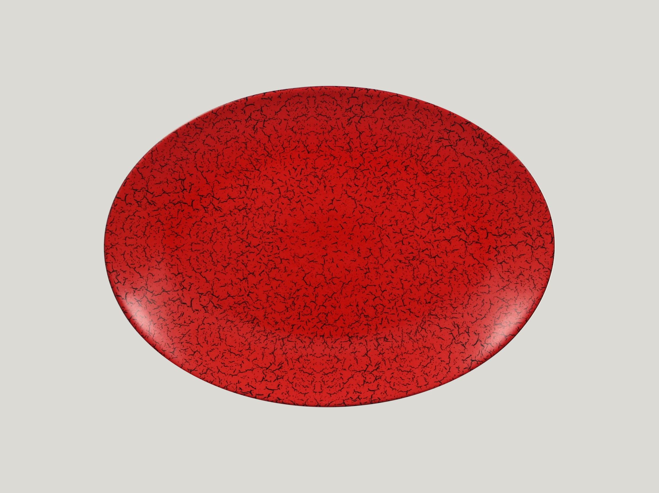 Talíř oválný 36 x 27 cm - červená