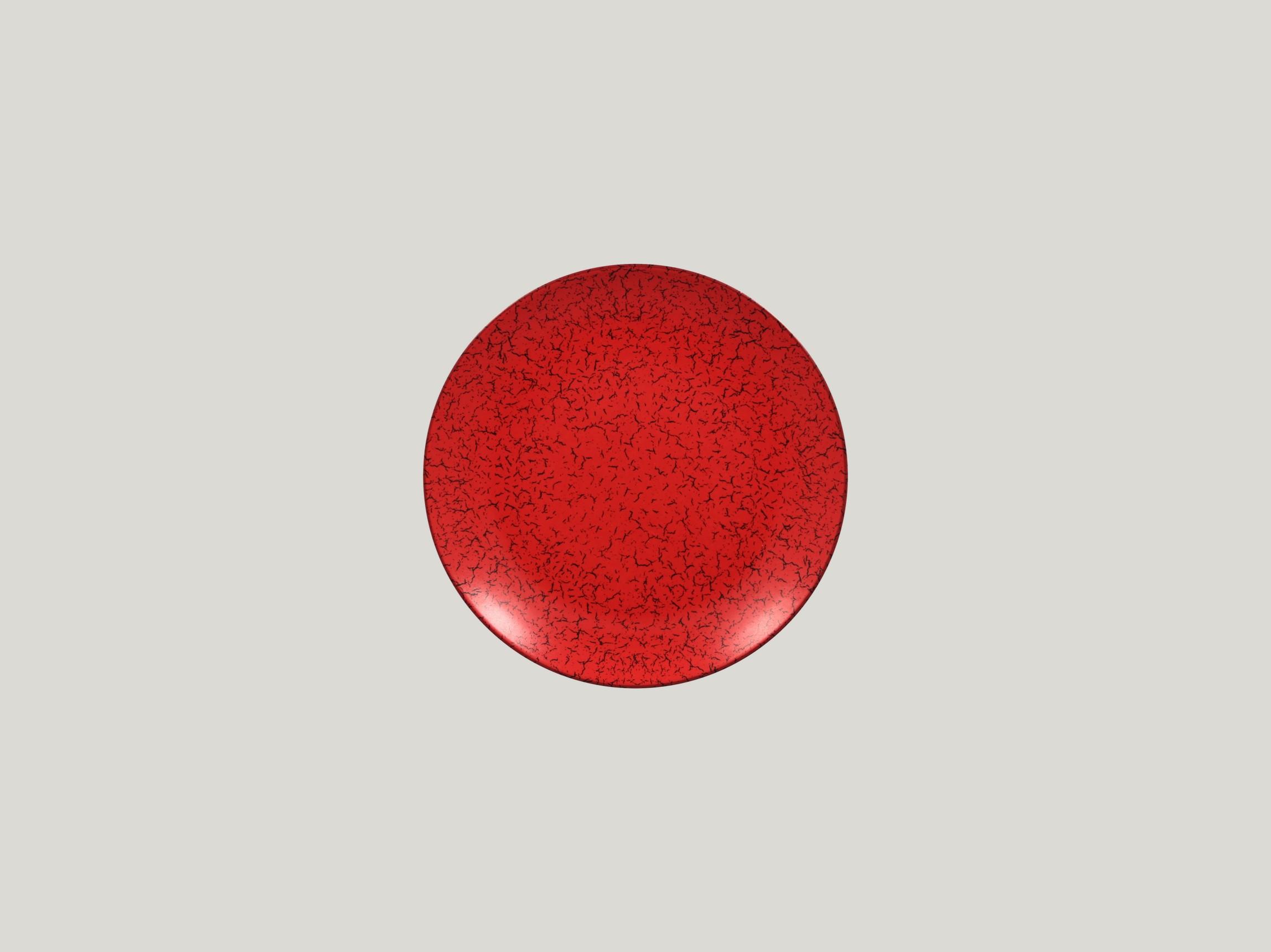 Talíř mělký 18 cm - červená