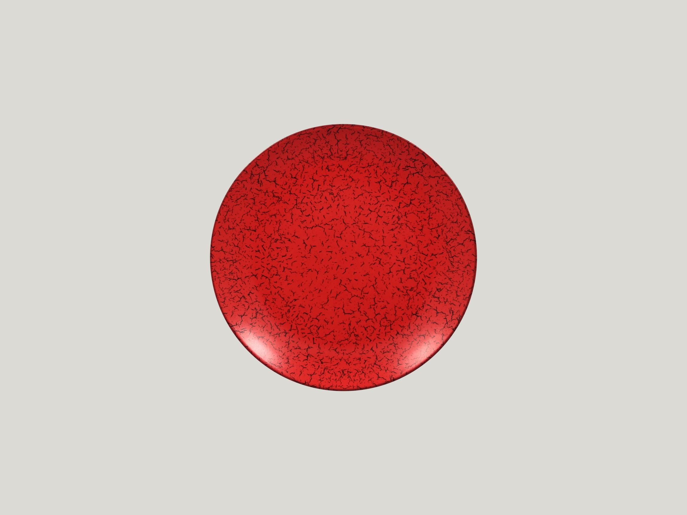 Talíř mělký 21 cm - červená