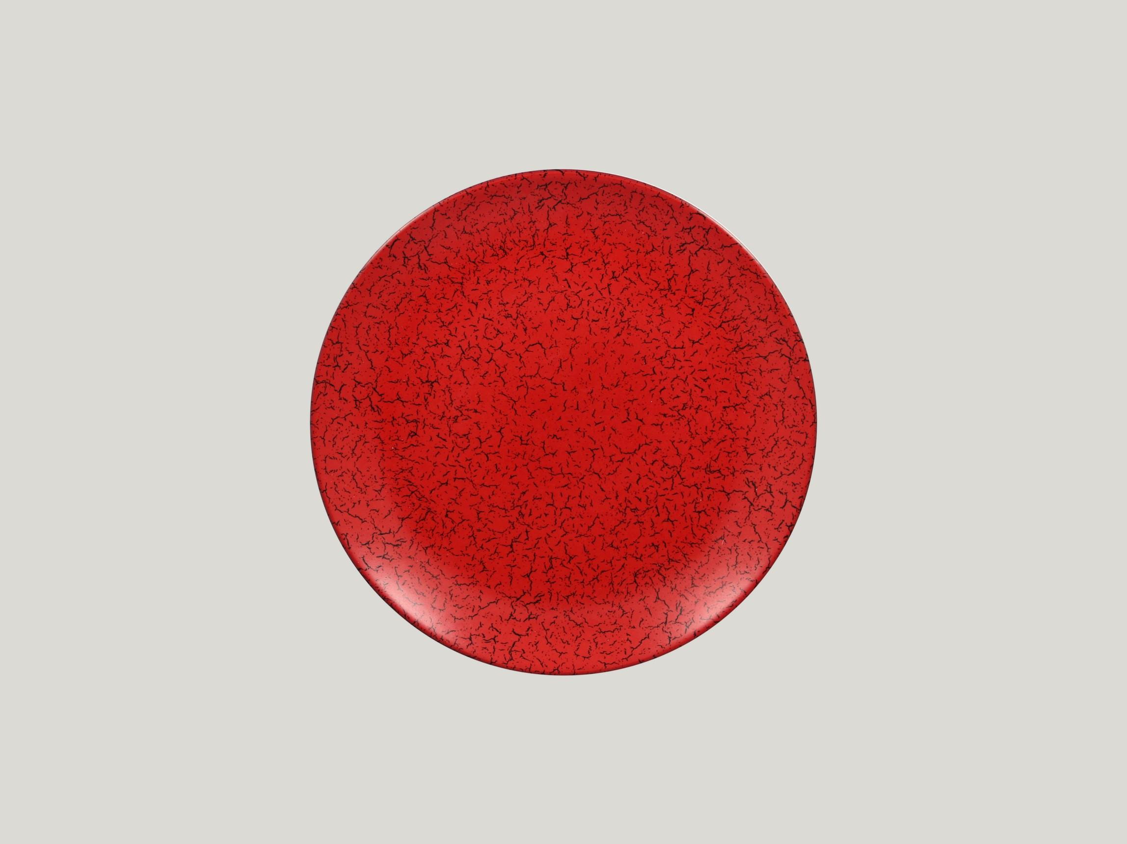 Talíř mělký 24 cm - červená